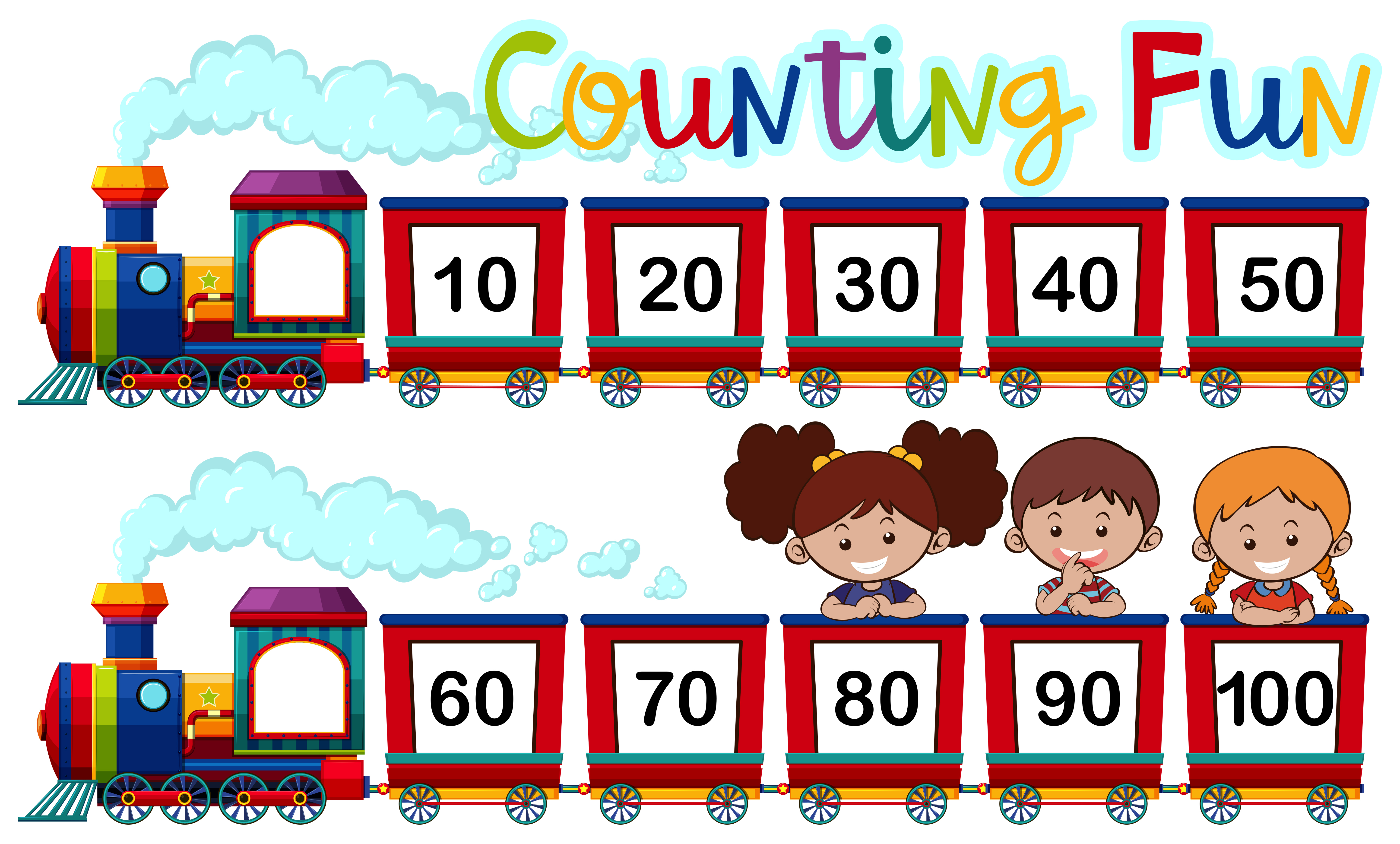Counting Numbers On The Train
