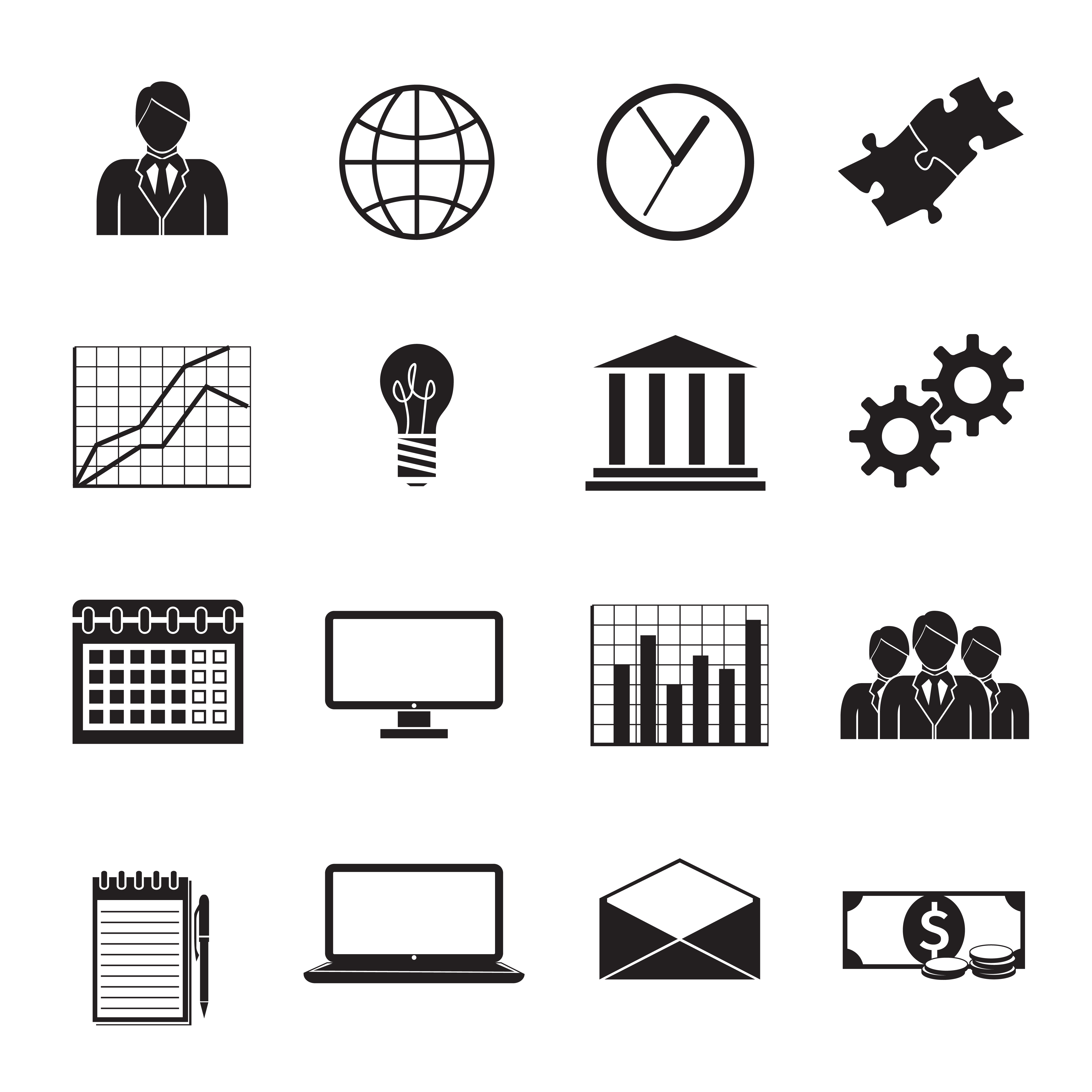 Business Flat Generic Icons Set