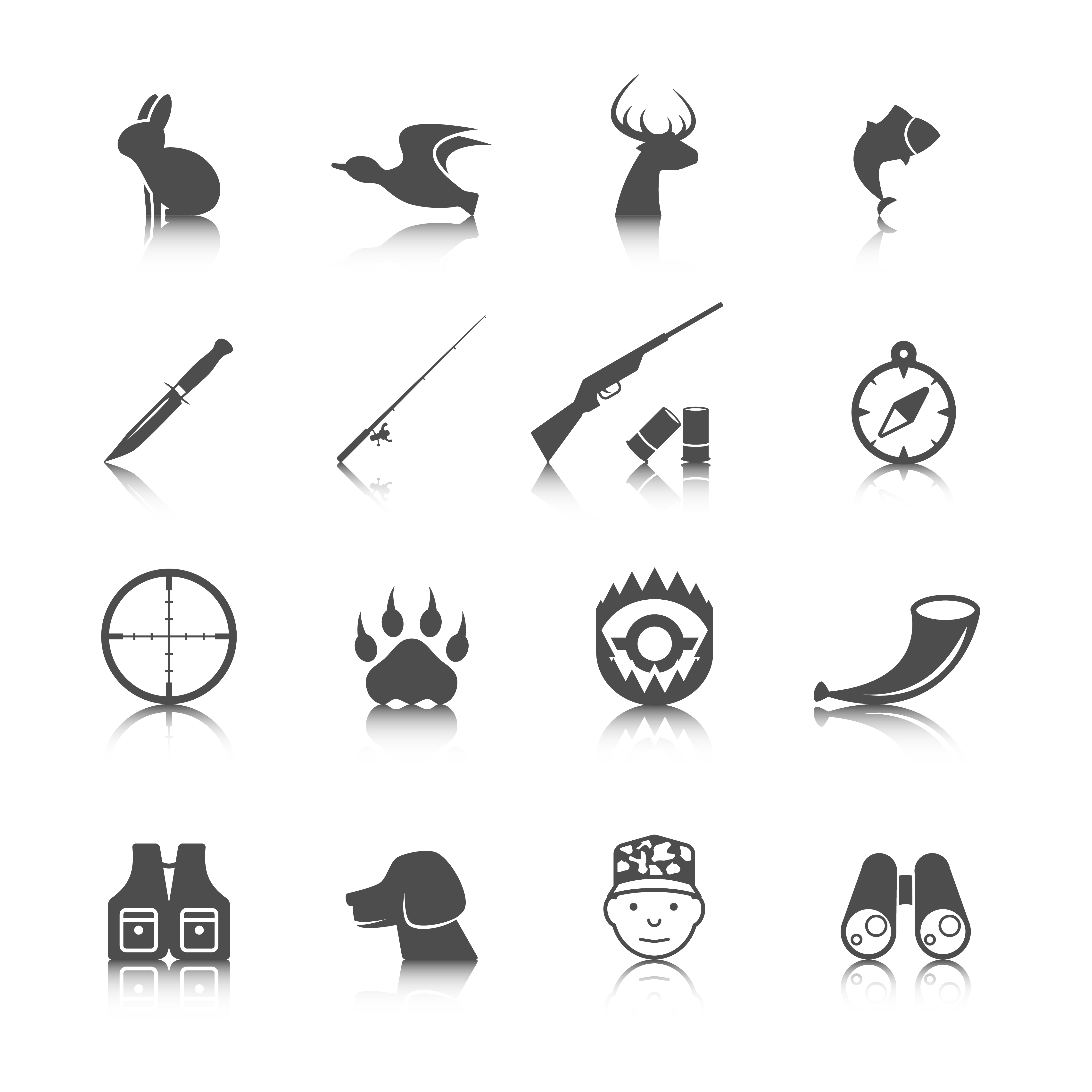 Set Of Hunting Icons