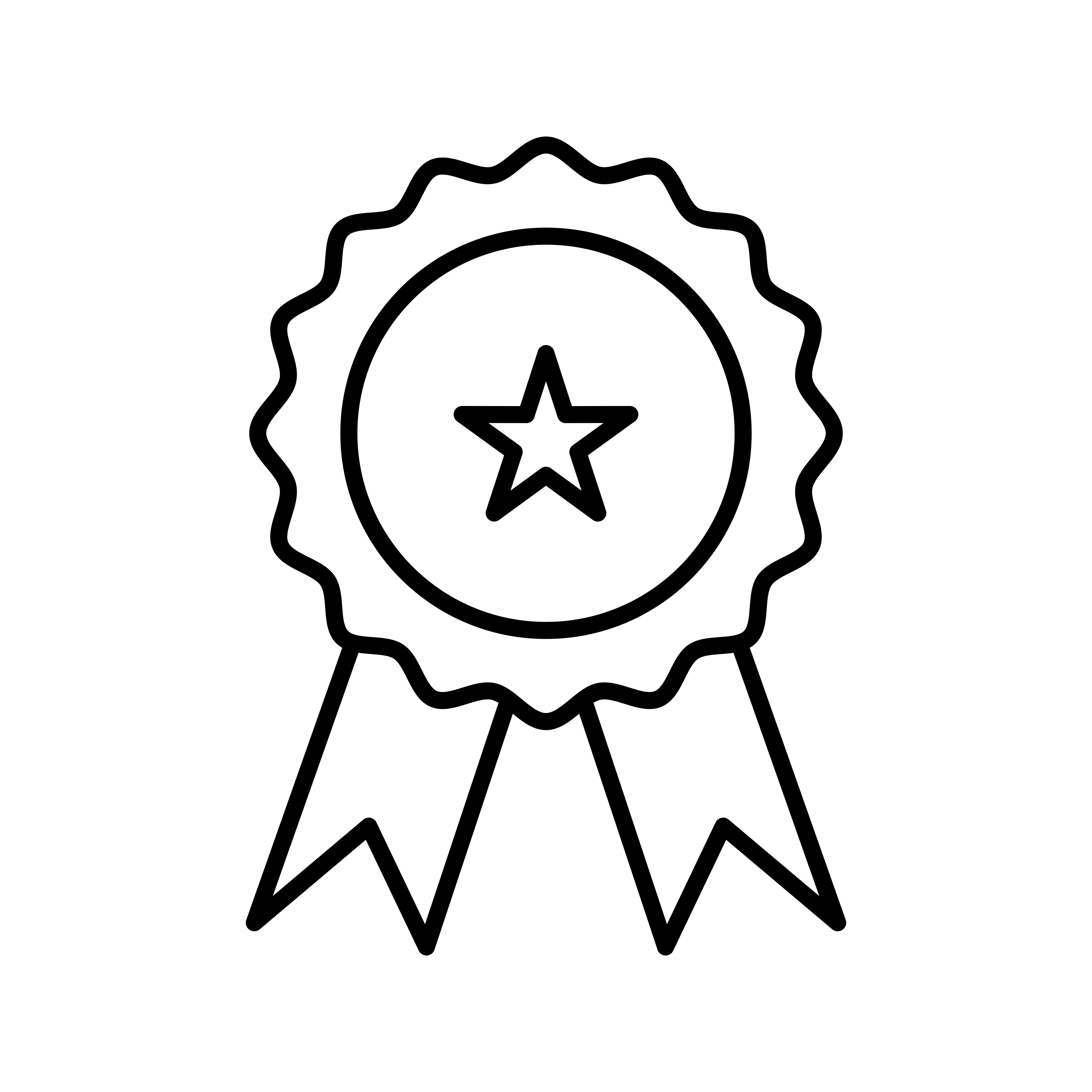 Medal Line Black Icon