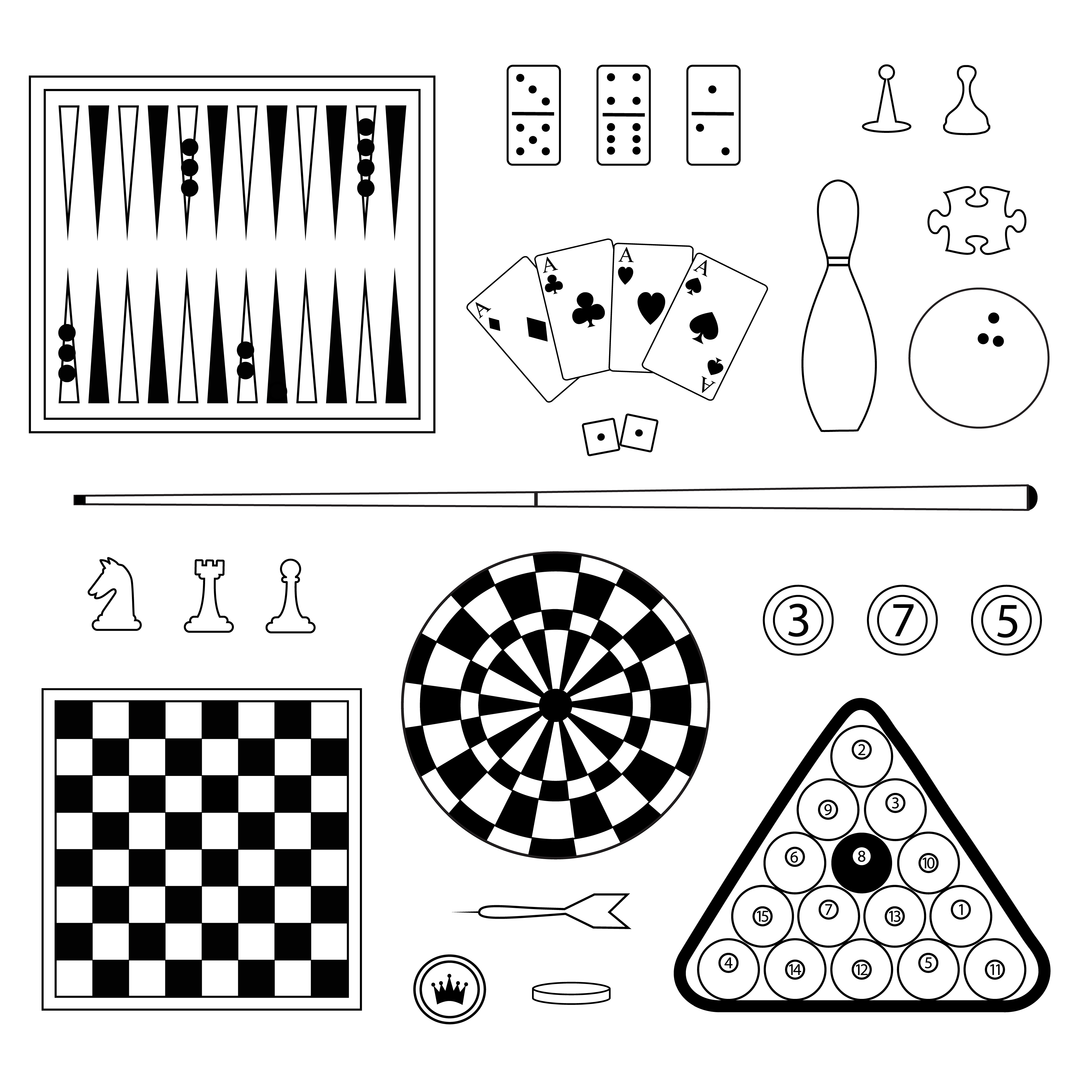 Games Digital Stamps Clipart