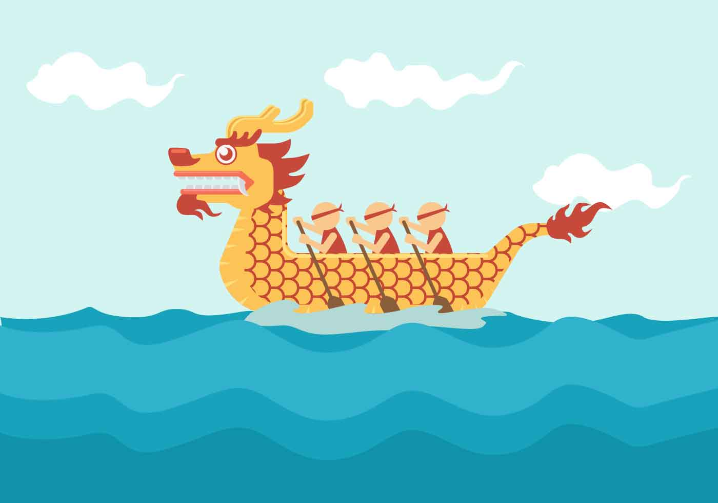 Dragon Boat Festival Vector Illustration