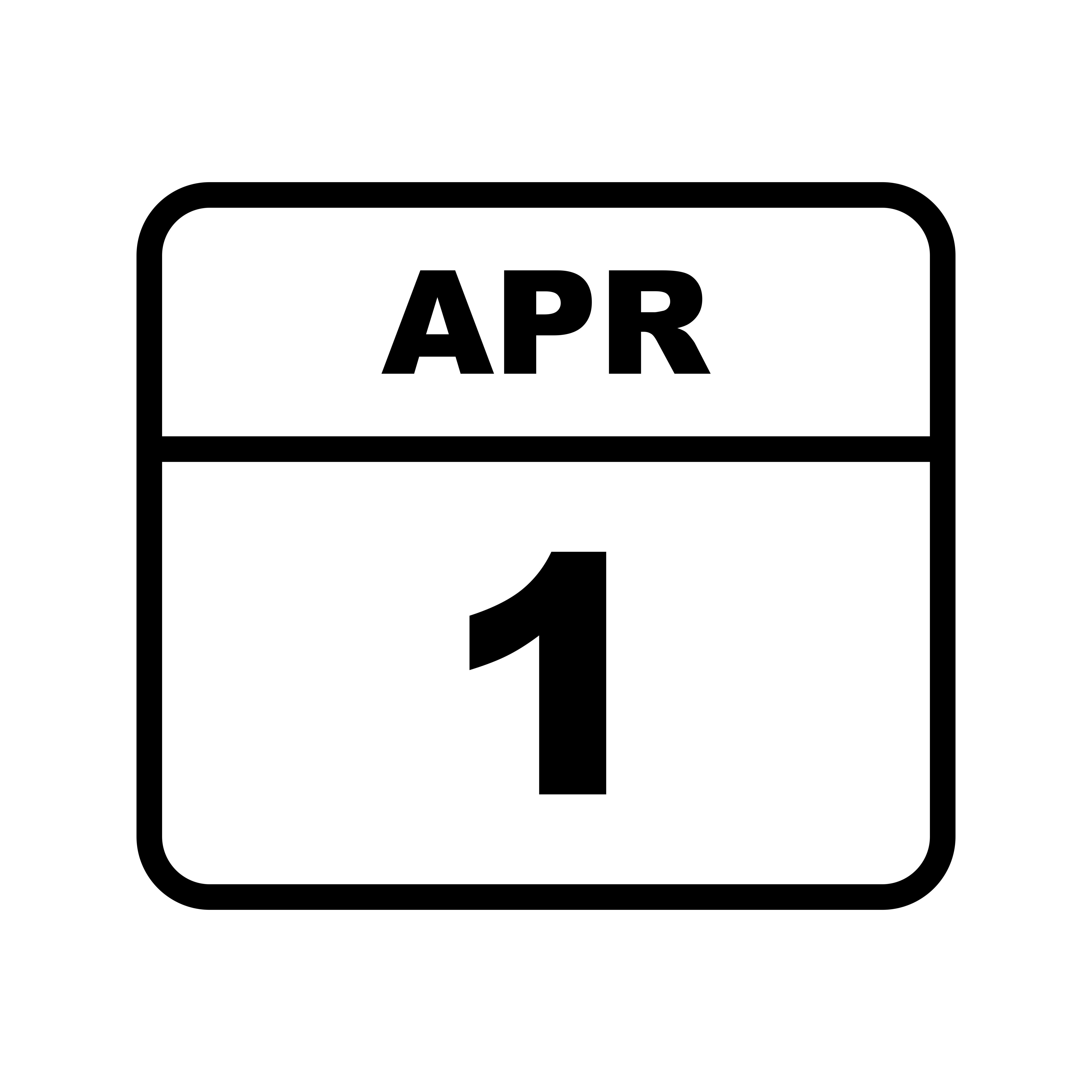 Datum Des 1 Aprils Fur Einen Tageskalender