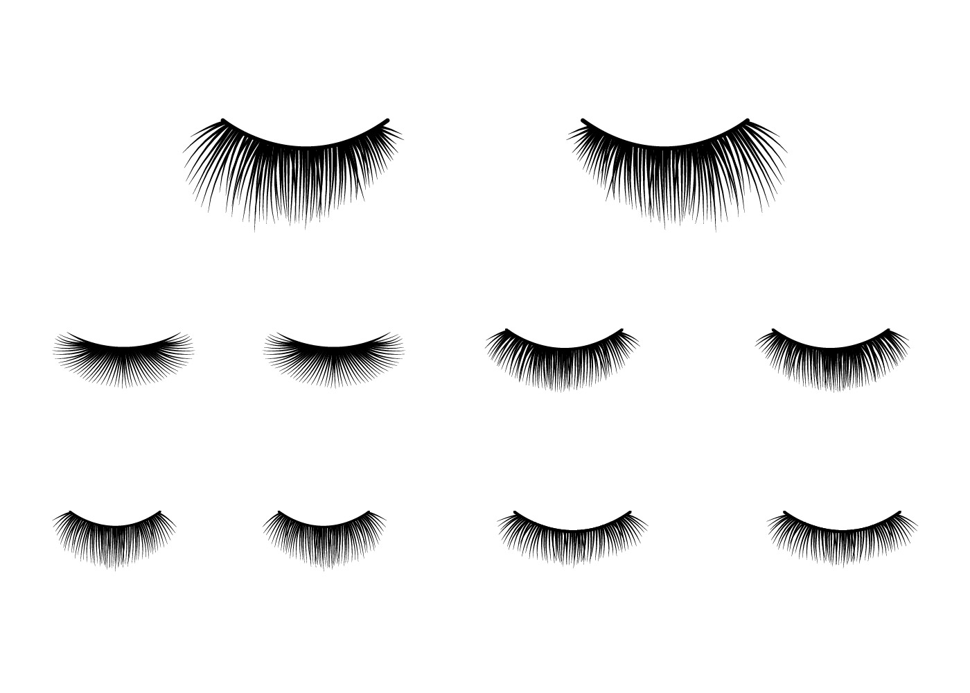 Eyelashes Clipart Vector
