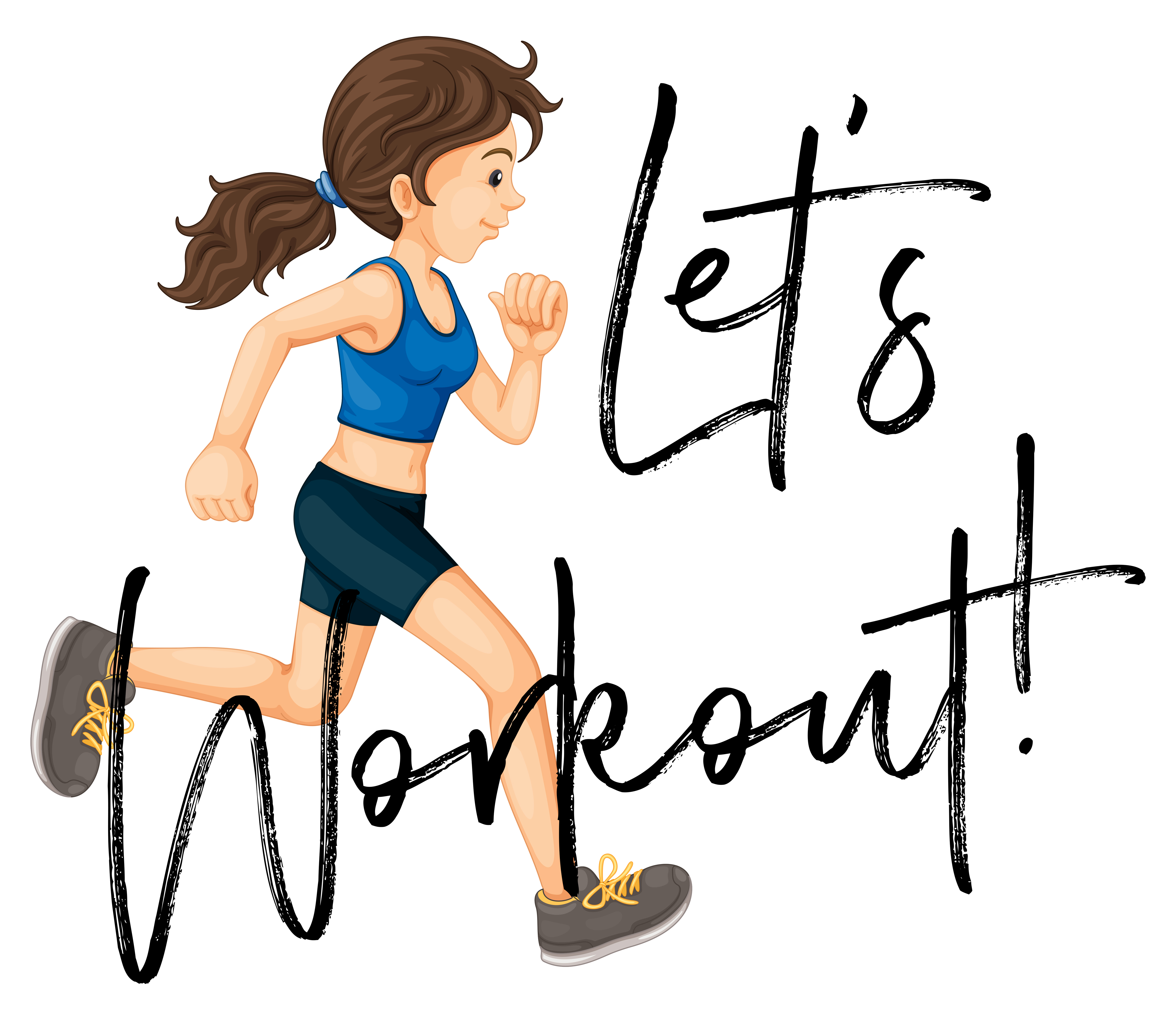Woman Jogging With Phrase Let S Worksheet