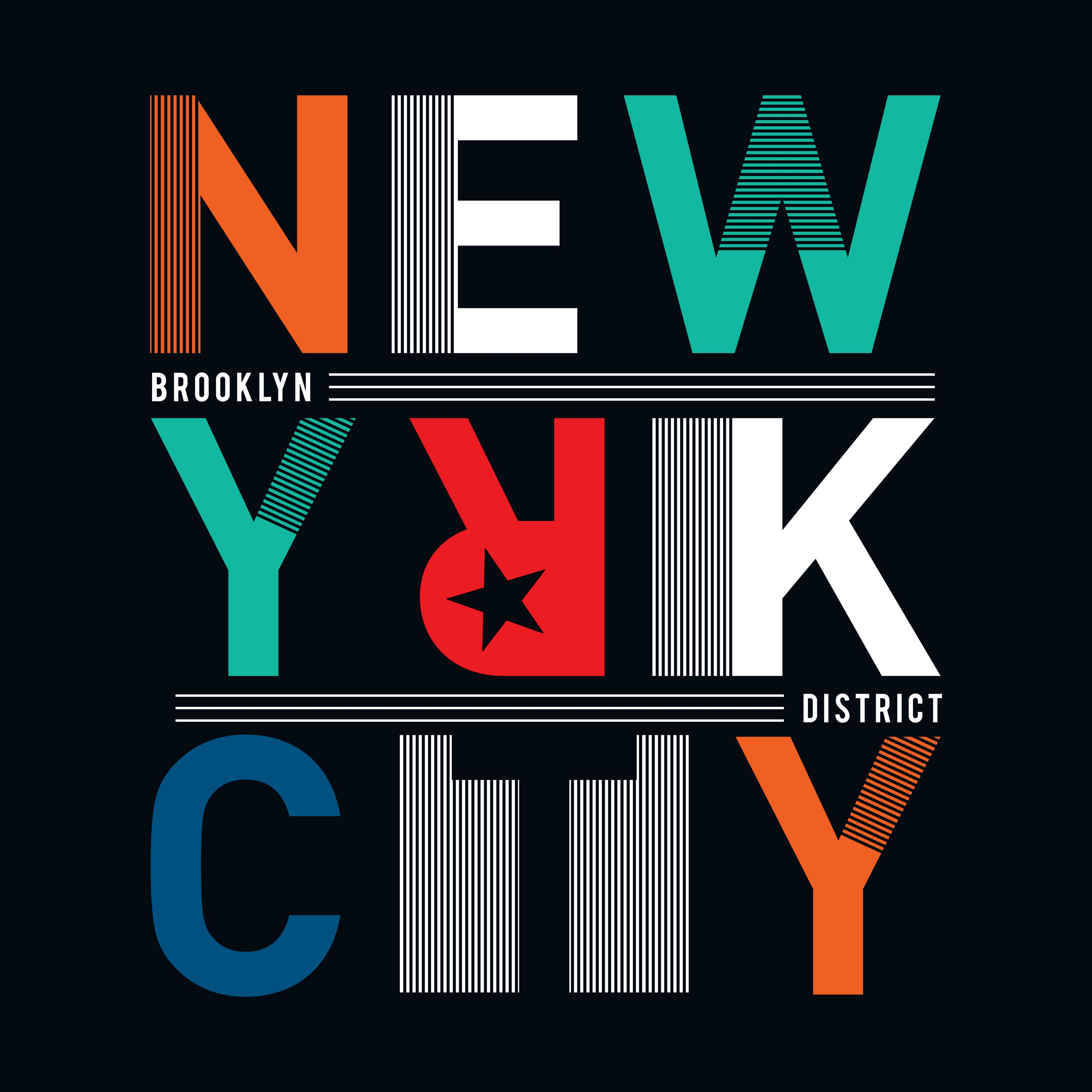 T Shirt Graphics Tee Print Design New York City Slogan