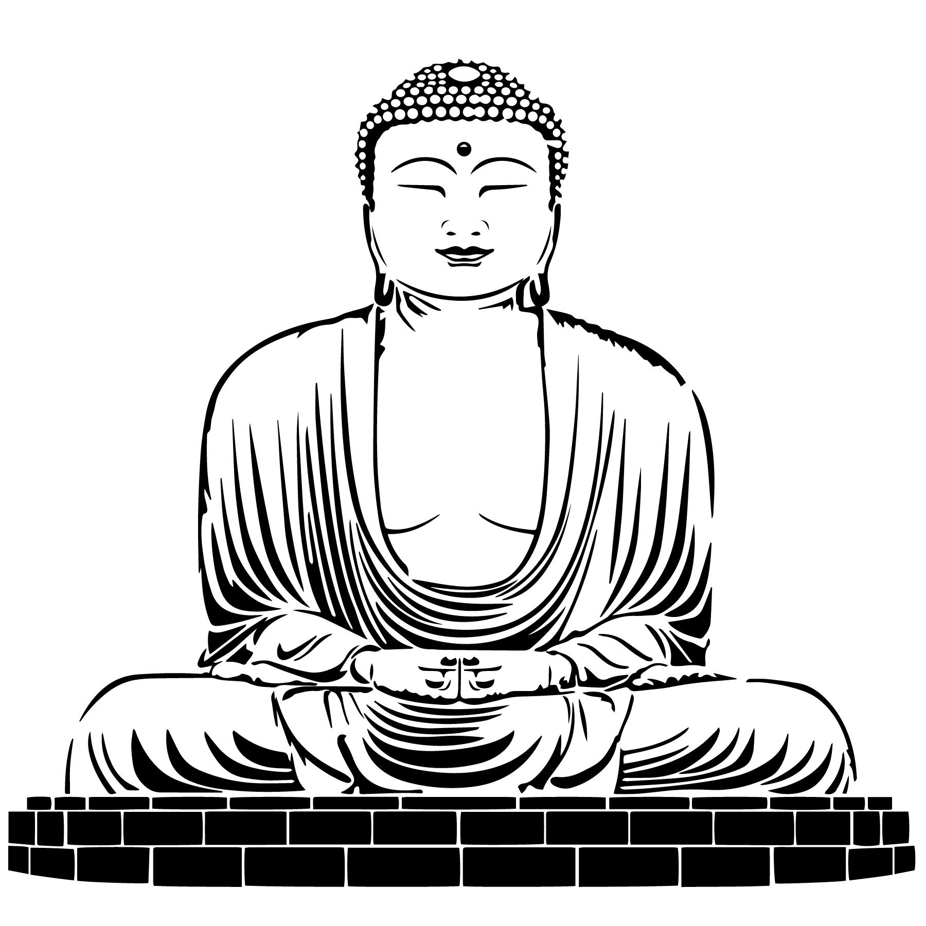 Buddha Icon Free Vector Art