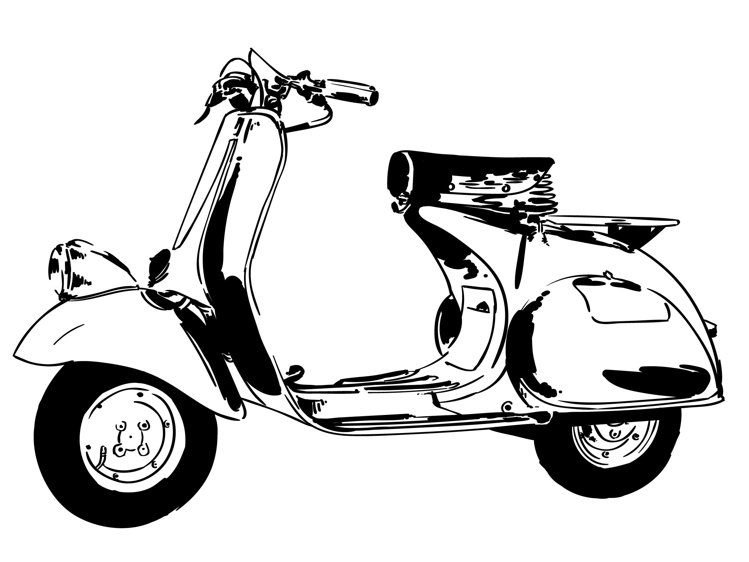 Scooter Vespa Free Vector Art