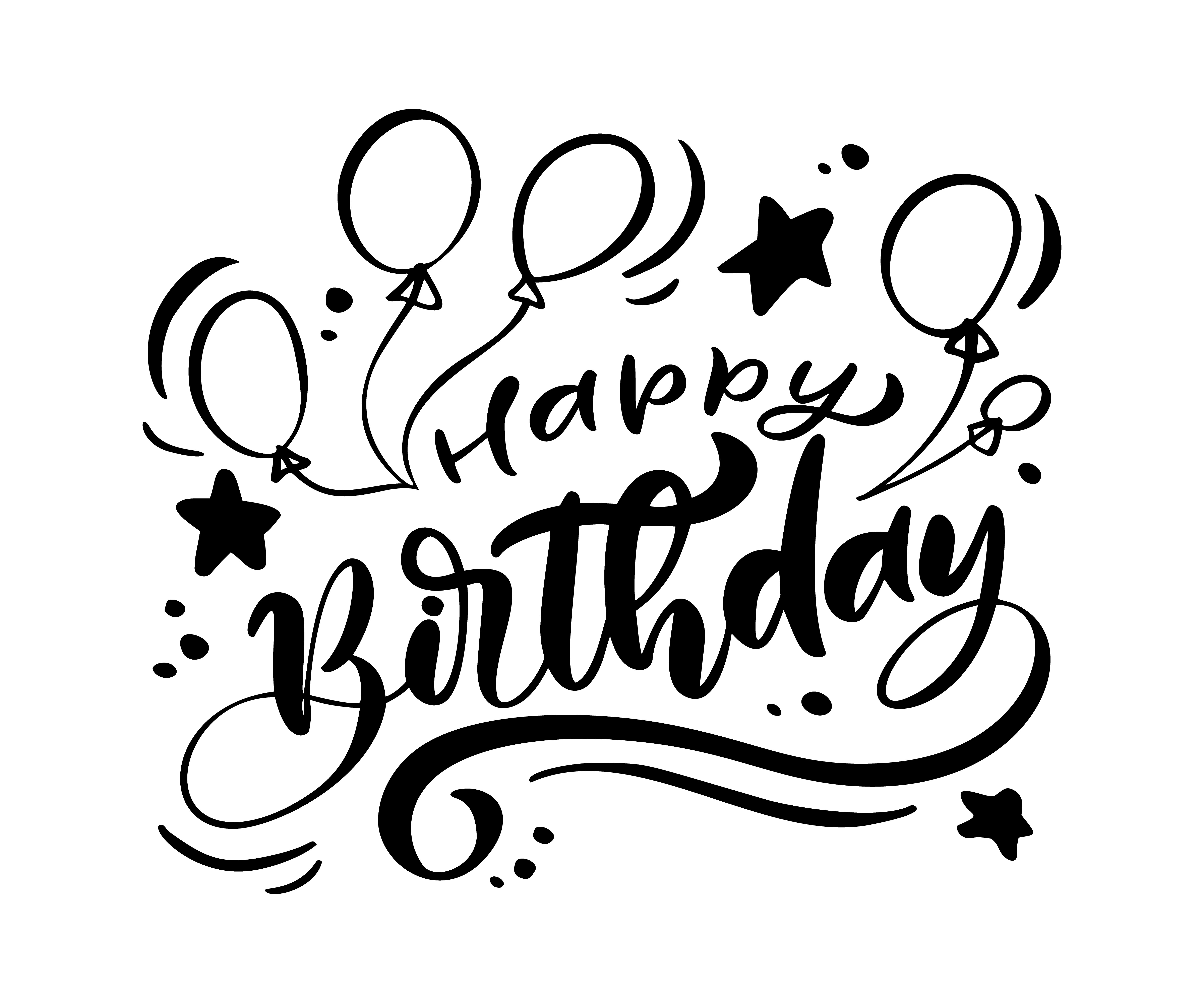 Vector Illustration Handwritten Modern Brush Lettering Of Happy Birthday Text On White Background Hand Drawn Typography Design Greetings Card 530692 Vector Art At Vecteezy