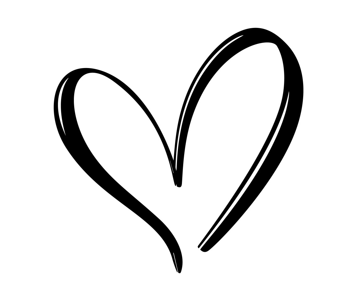 Download Hand drawn Heart love sign. Romantic calligraphy vector ...