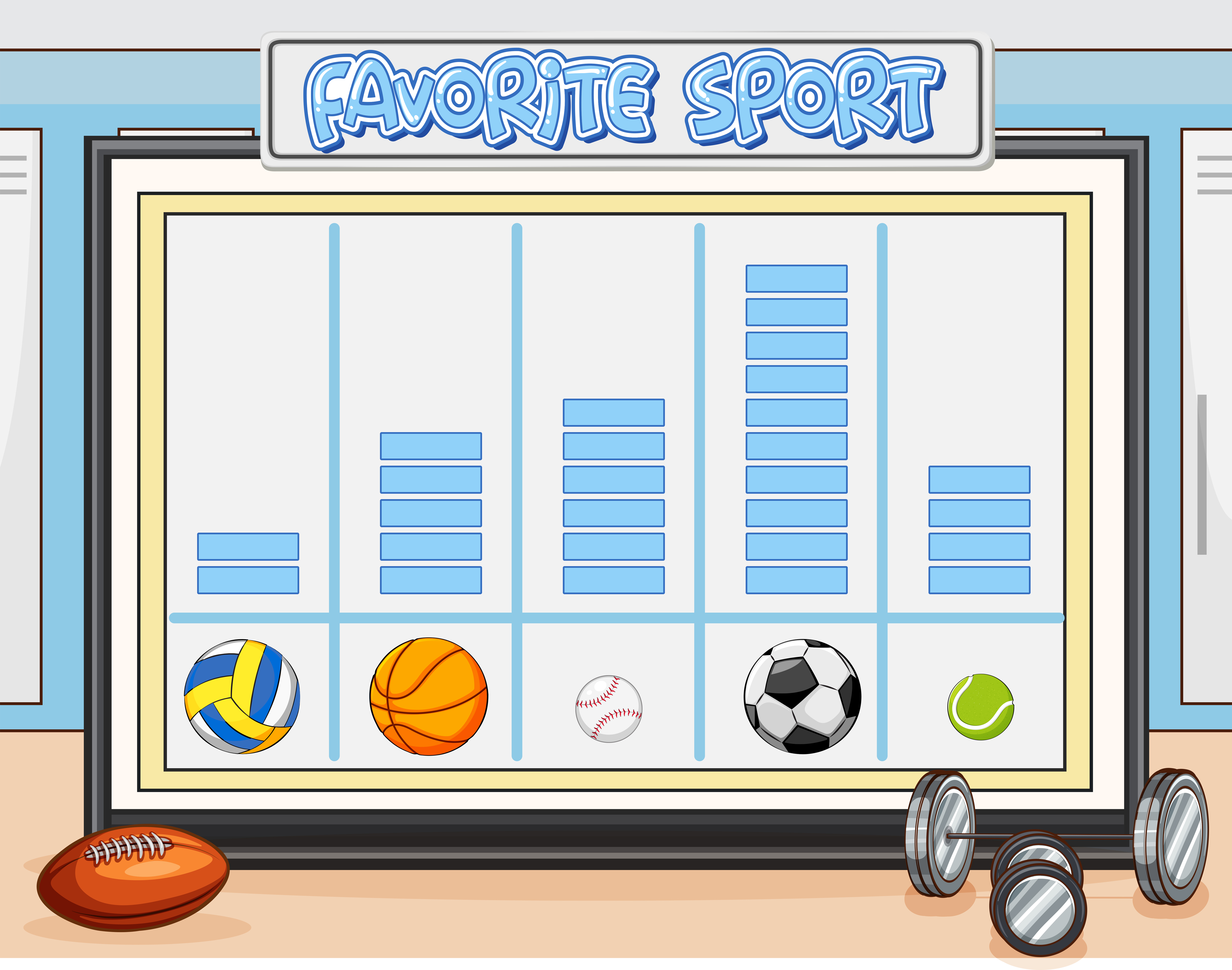 Count Favorite Sport Worksheet