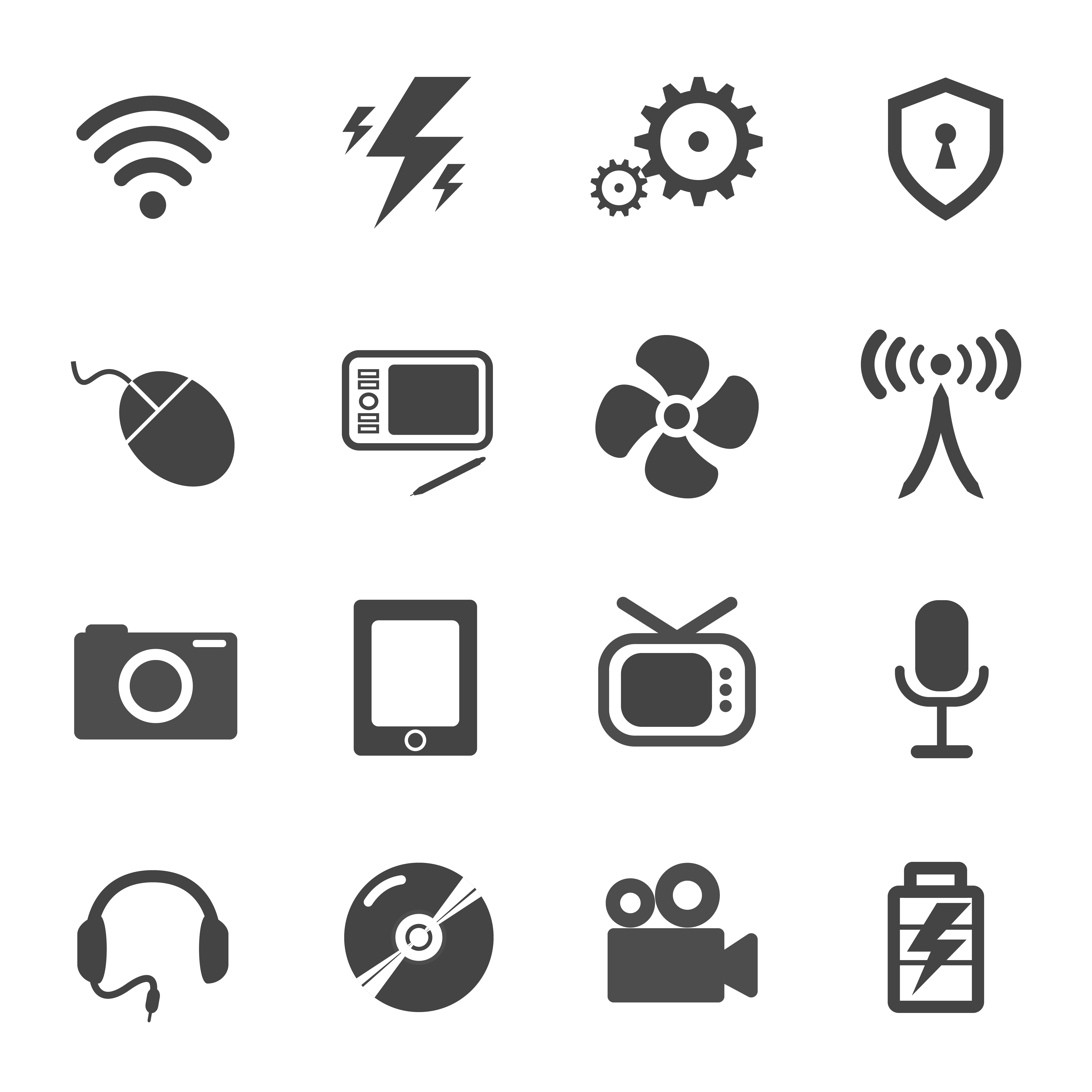 Electronic And Electric Icon Vector Set