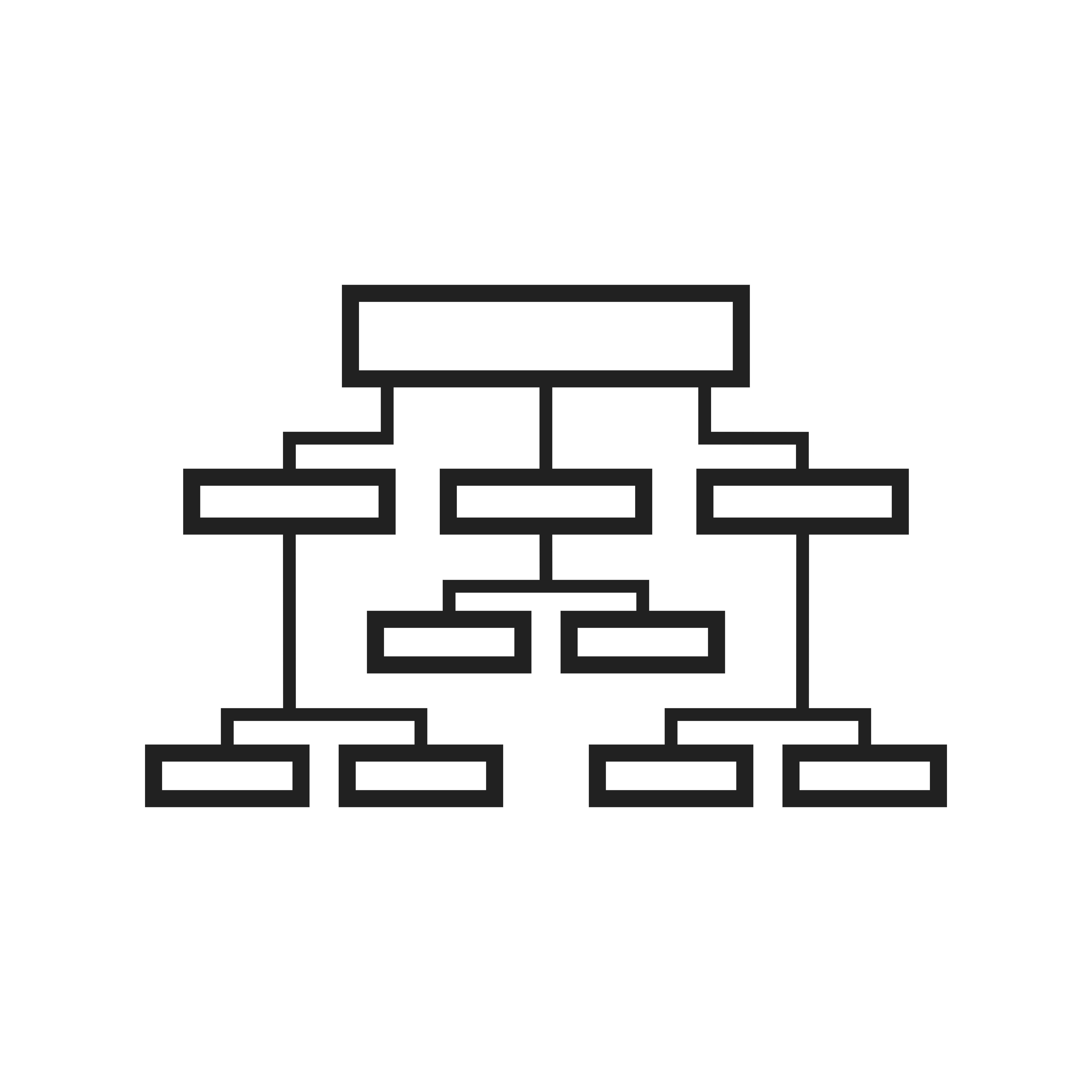 Business Structure Line Black Icon