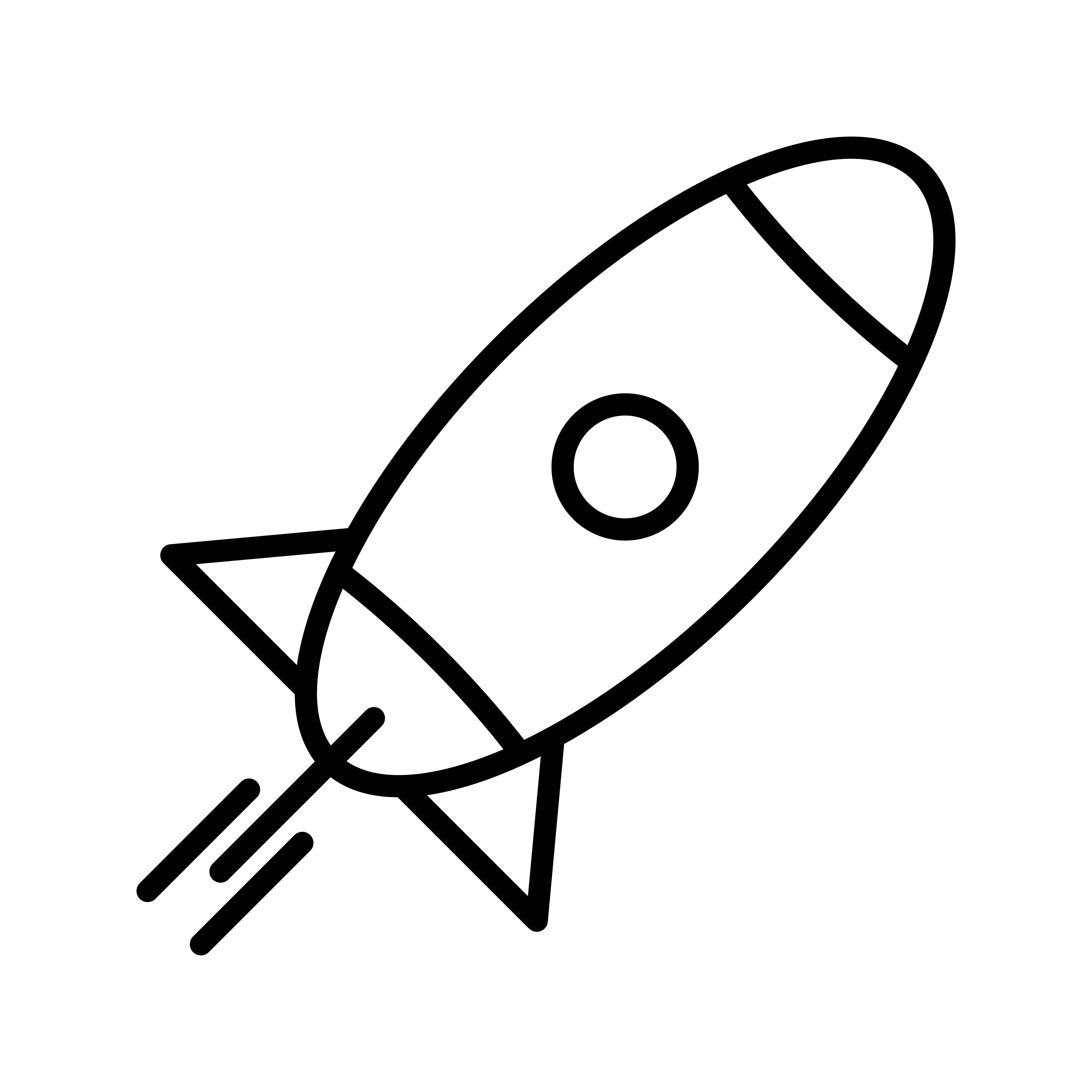 Rocket Line Black Icon