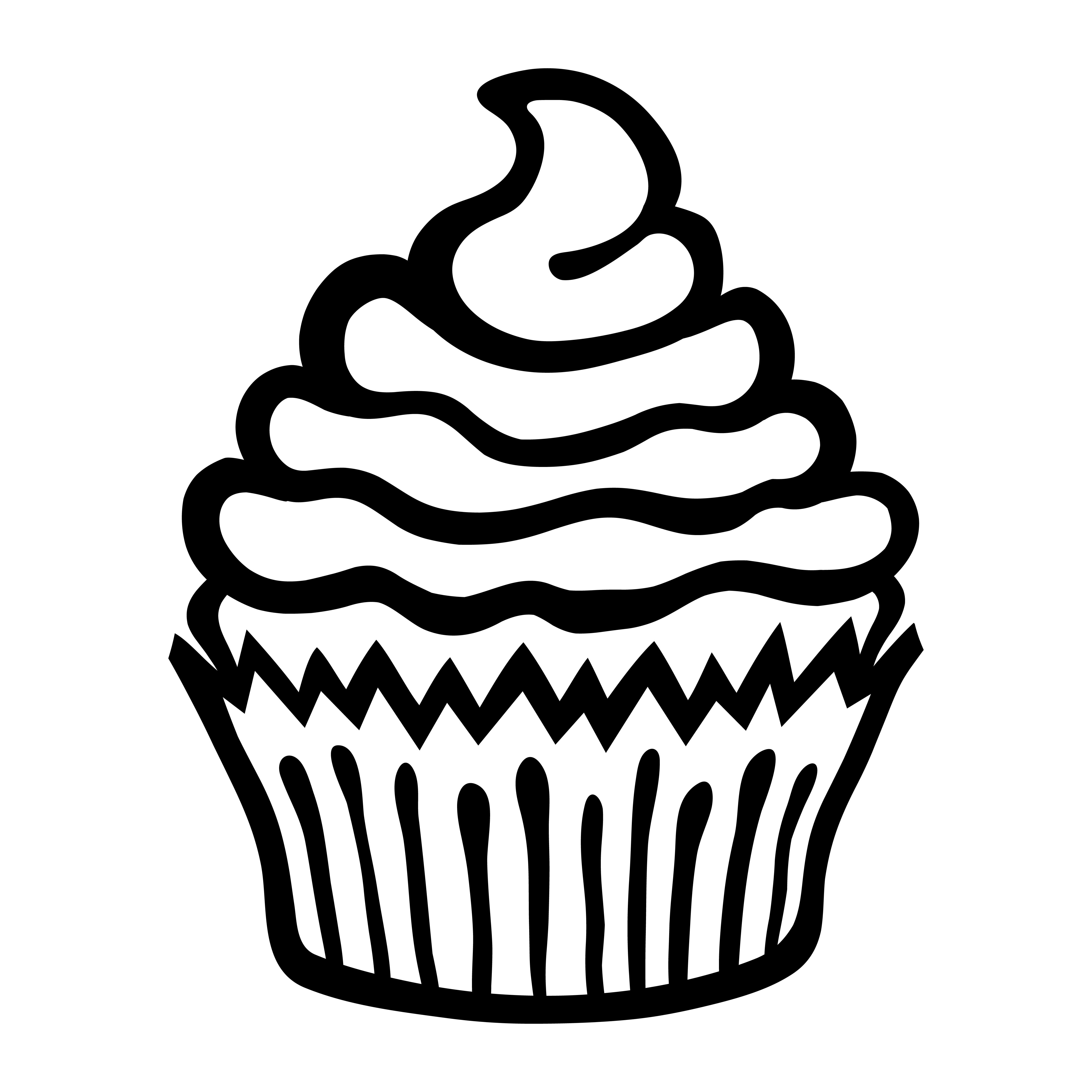 Cupcake Vector Icon