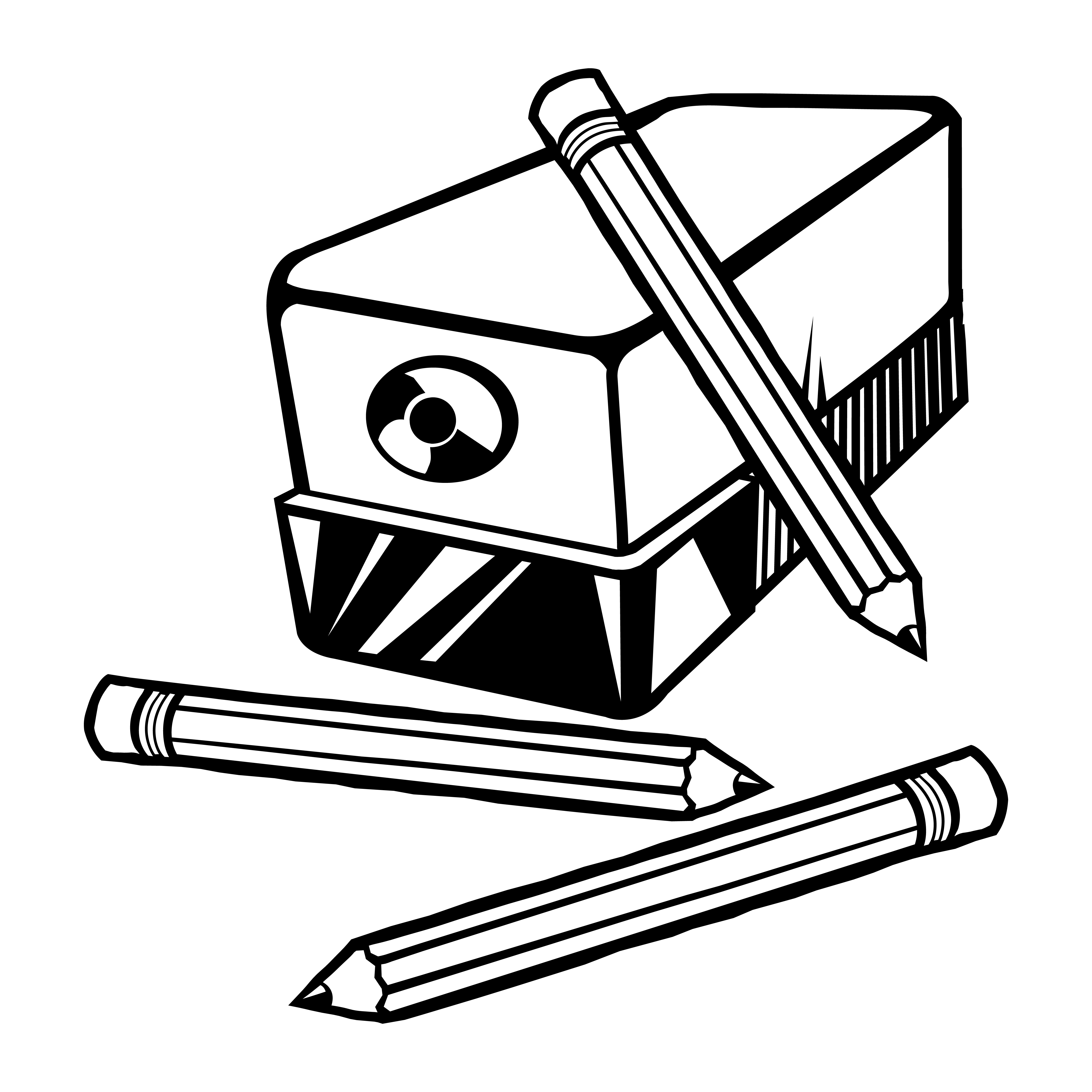 Vector Illustration Of An Electric Pencil Sharpener With