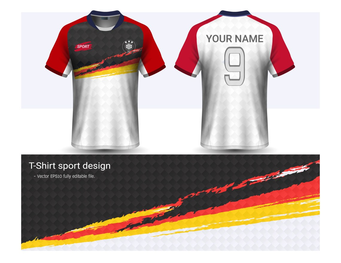 Download Soccer jersey and t-shirt sport mockup template, Graphic ...