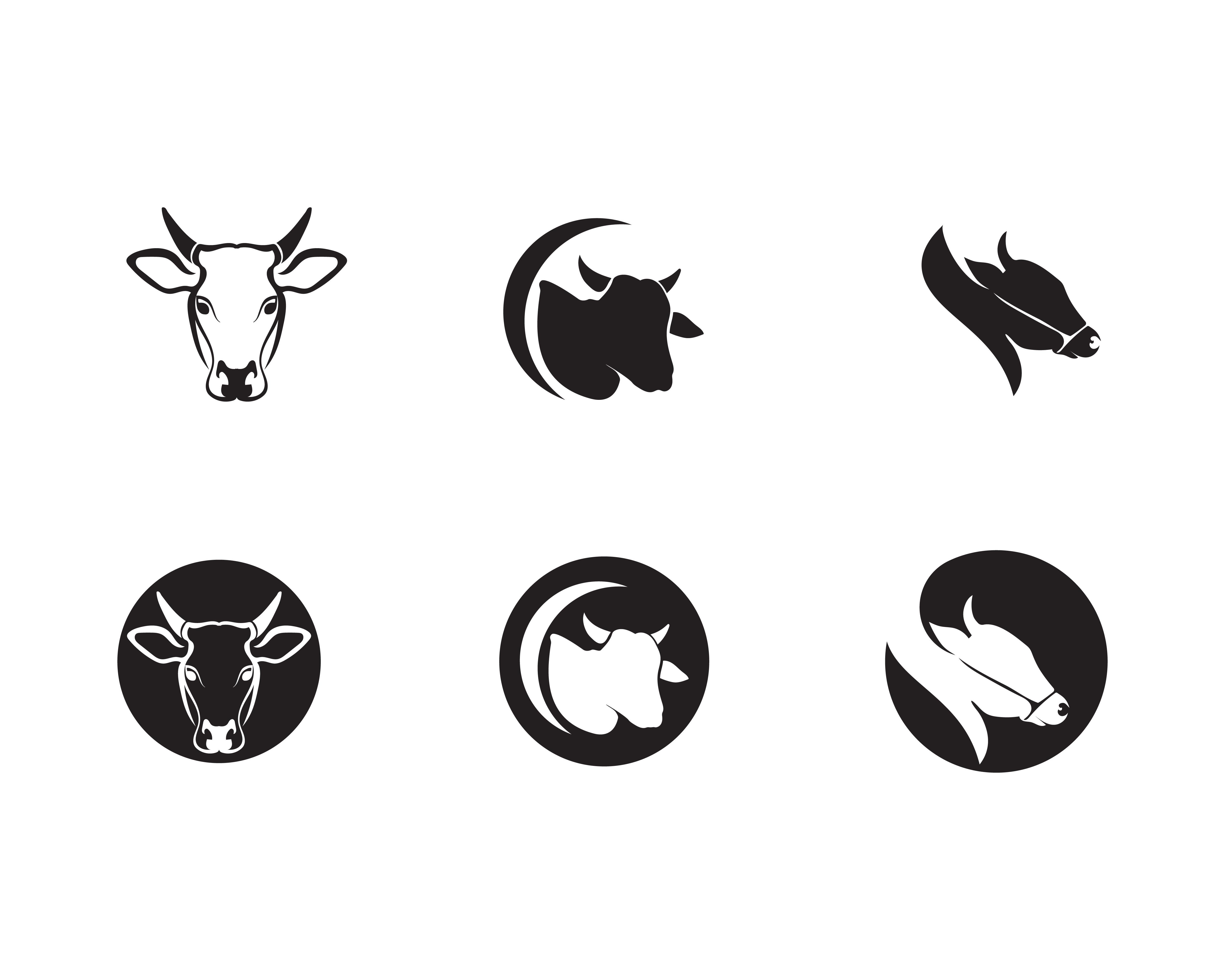 Cow Head Logo Template Vector