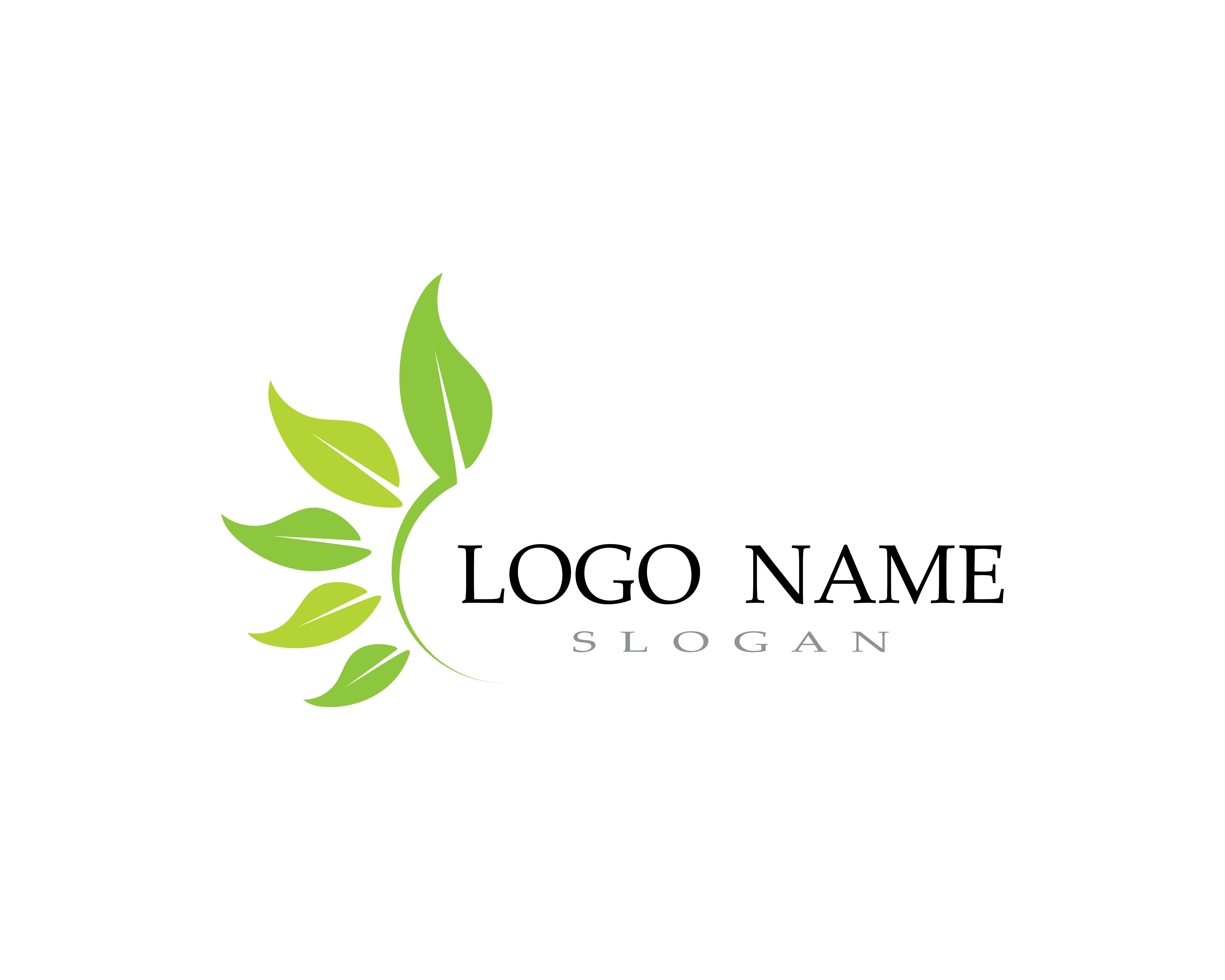 Logos Of Green Leaf Ecology Nature Element Vector
