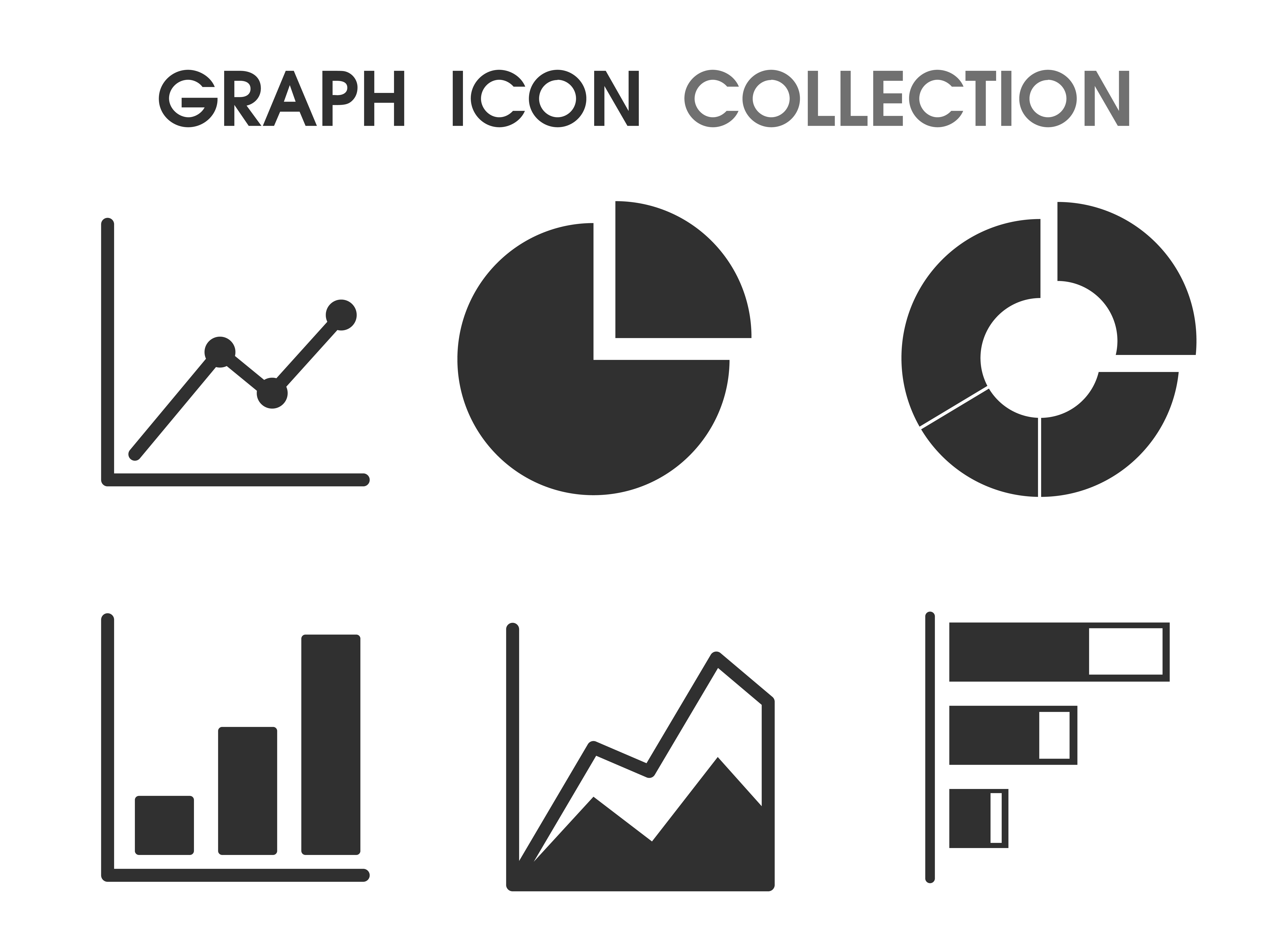 Graph Icons In Various Ways That Looks Simple And Modern