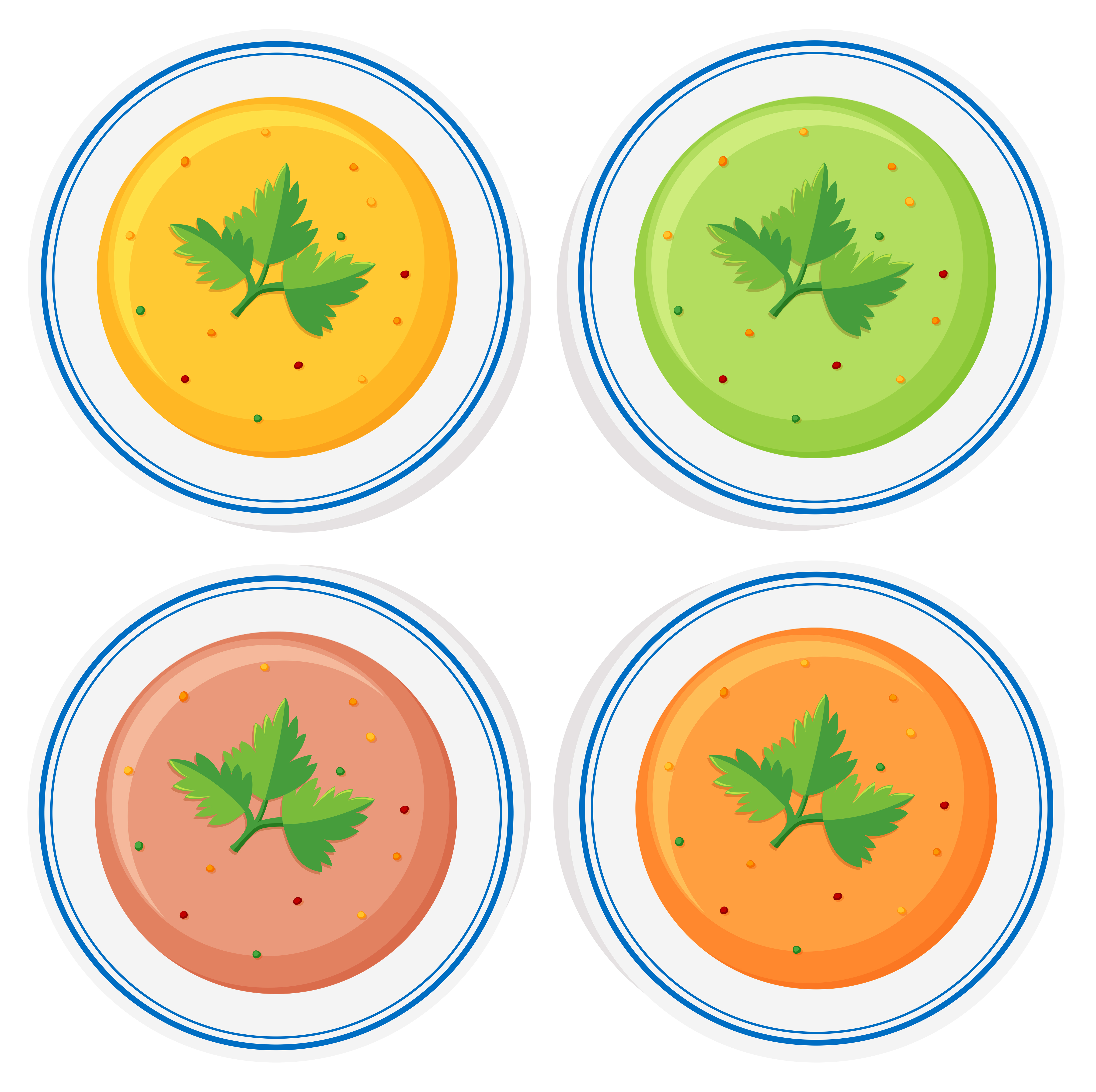 Different Types Of Soup In Bowls