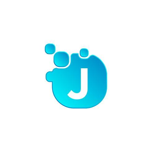 Letter J Bubble Logo Template Or Icon Vector Illustration Download Free Vectors Clipart Graphics Vector Art