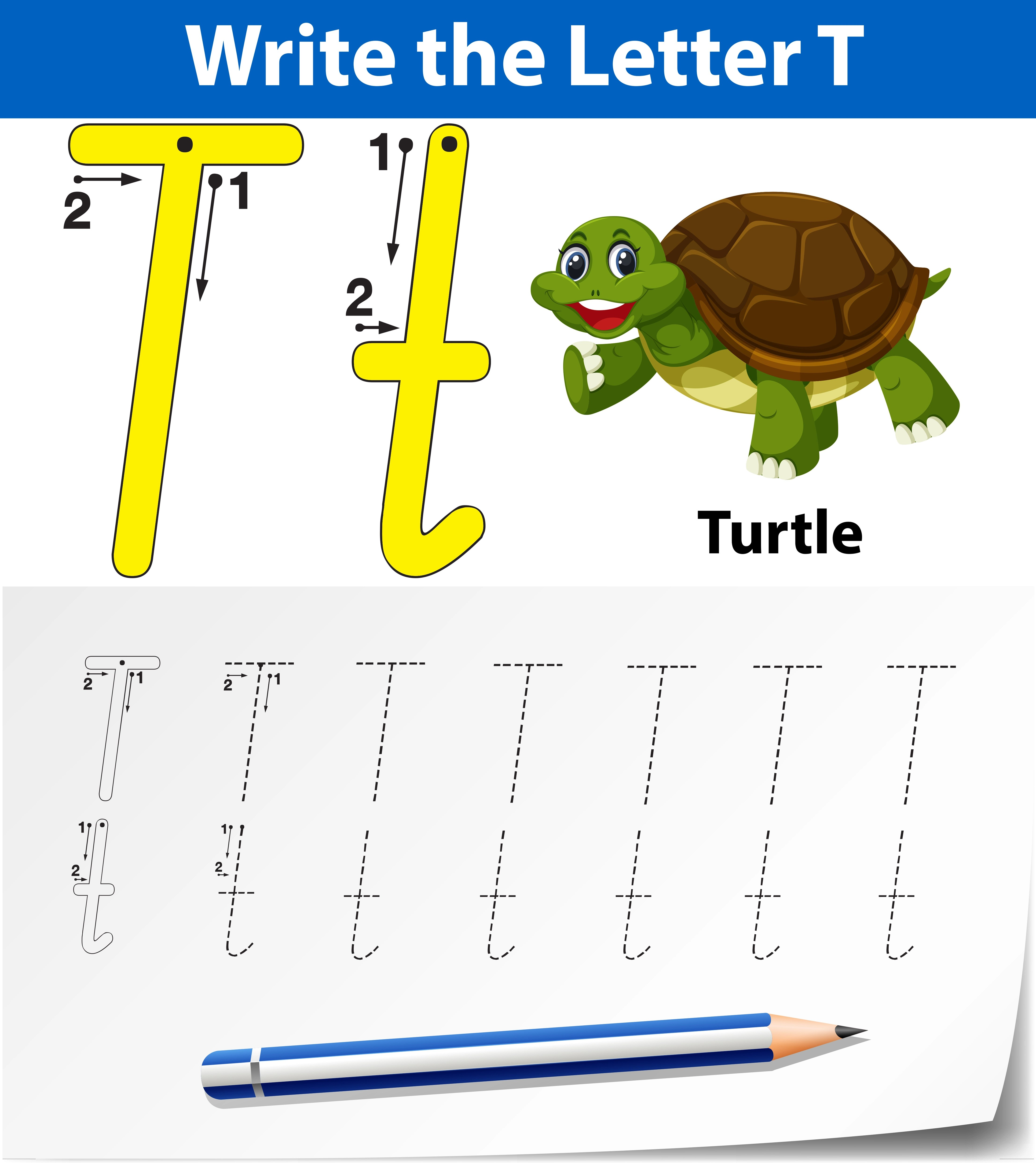 T Tracing Patterns Worksheet