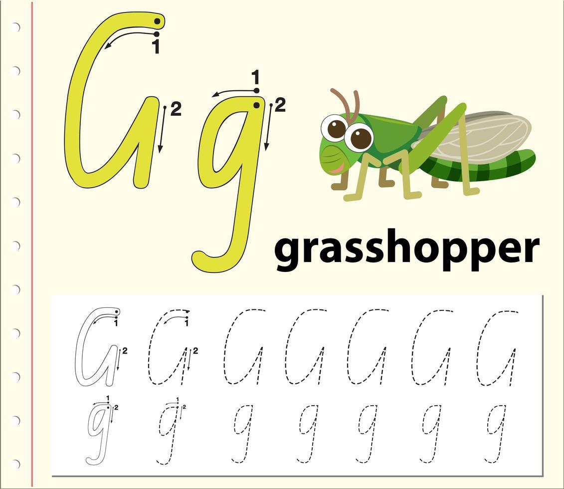 Letter G Tracing Alphabet Worksheets