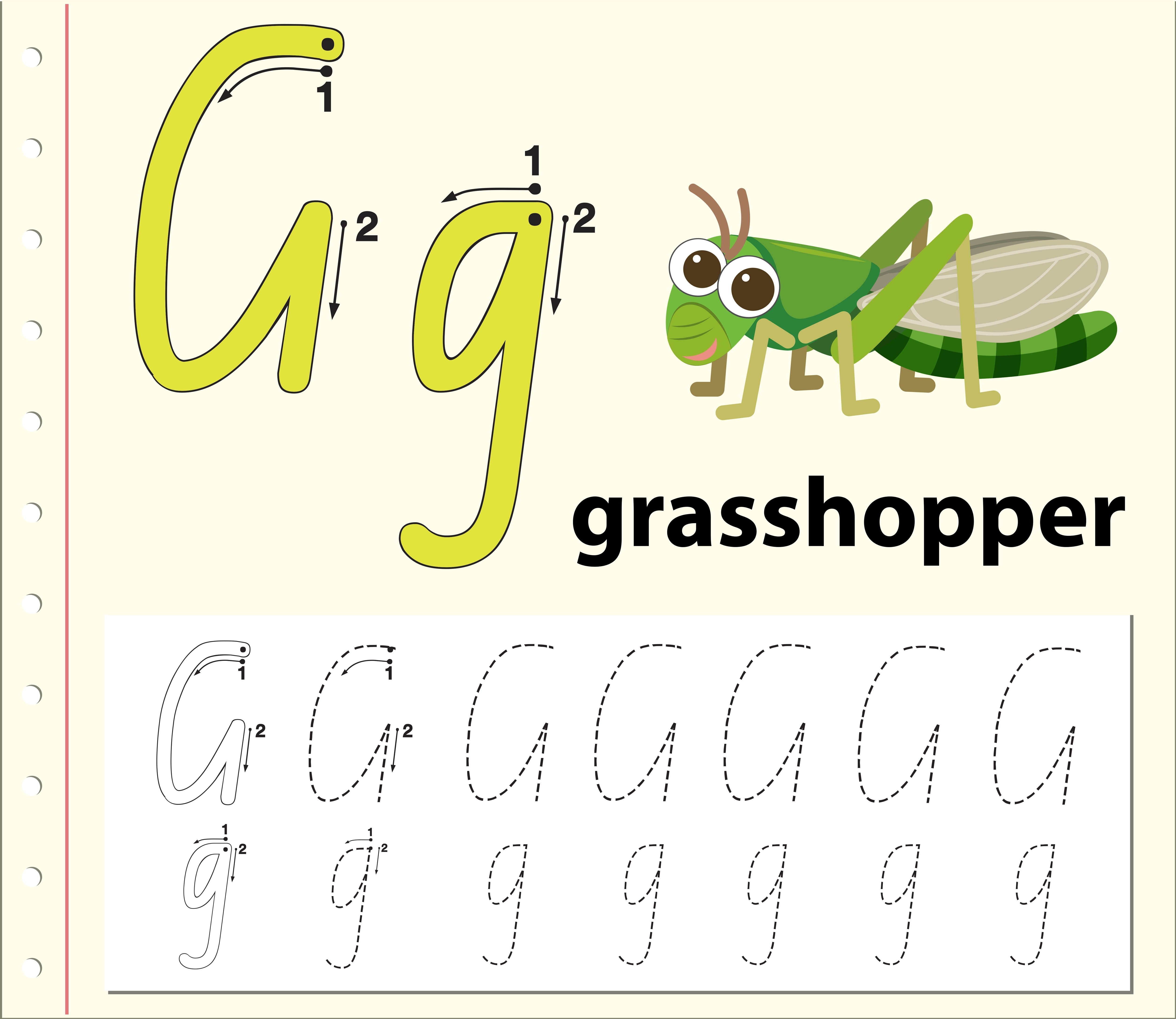 Letter G Tracing Alphabet Worksheets