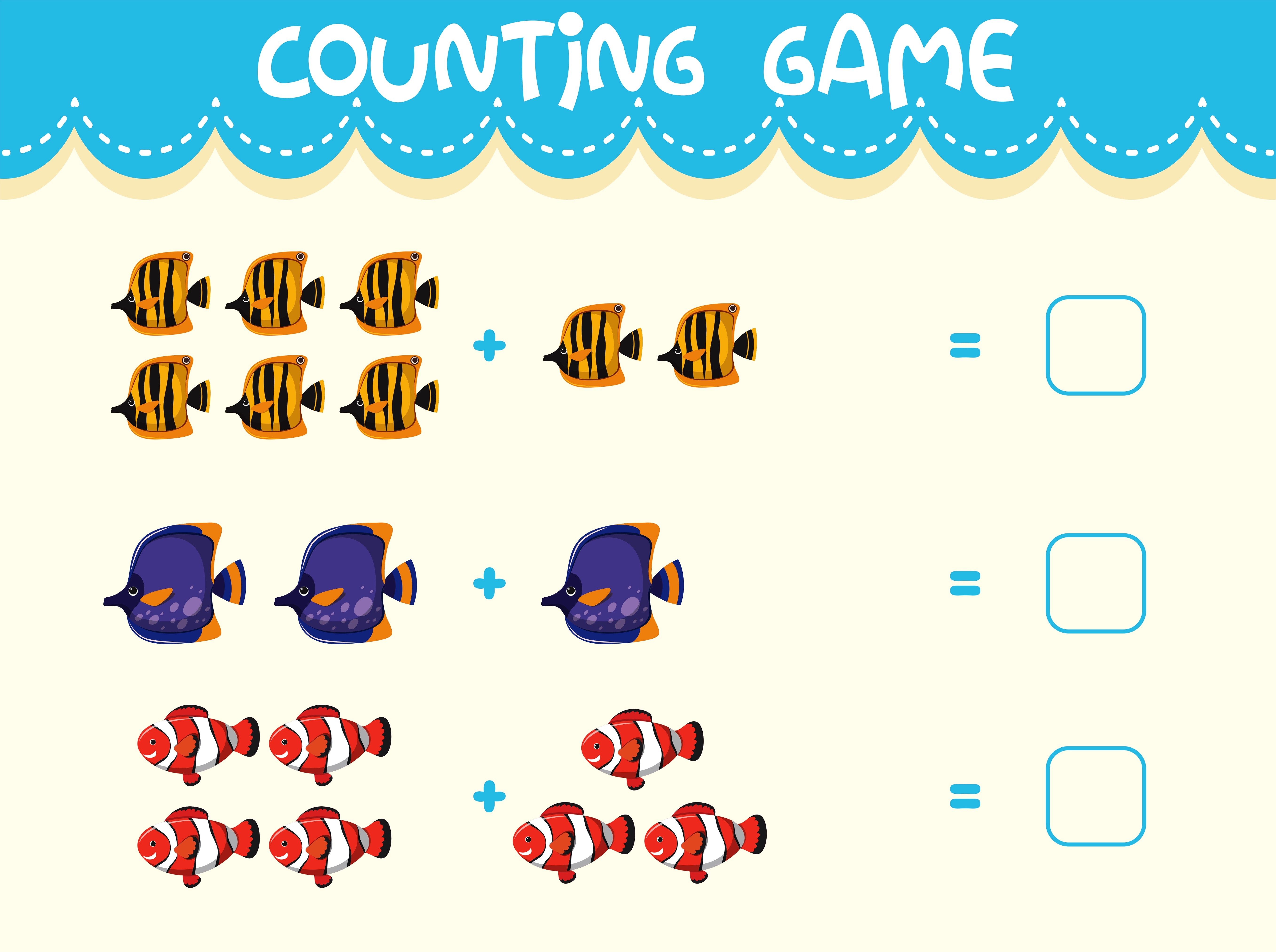 Math Counting Game Template
