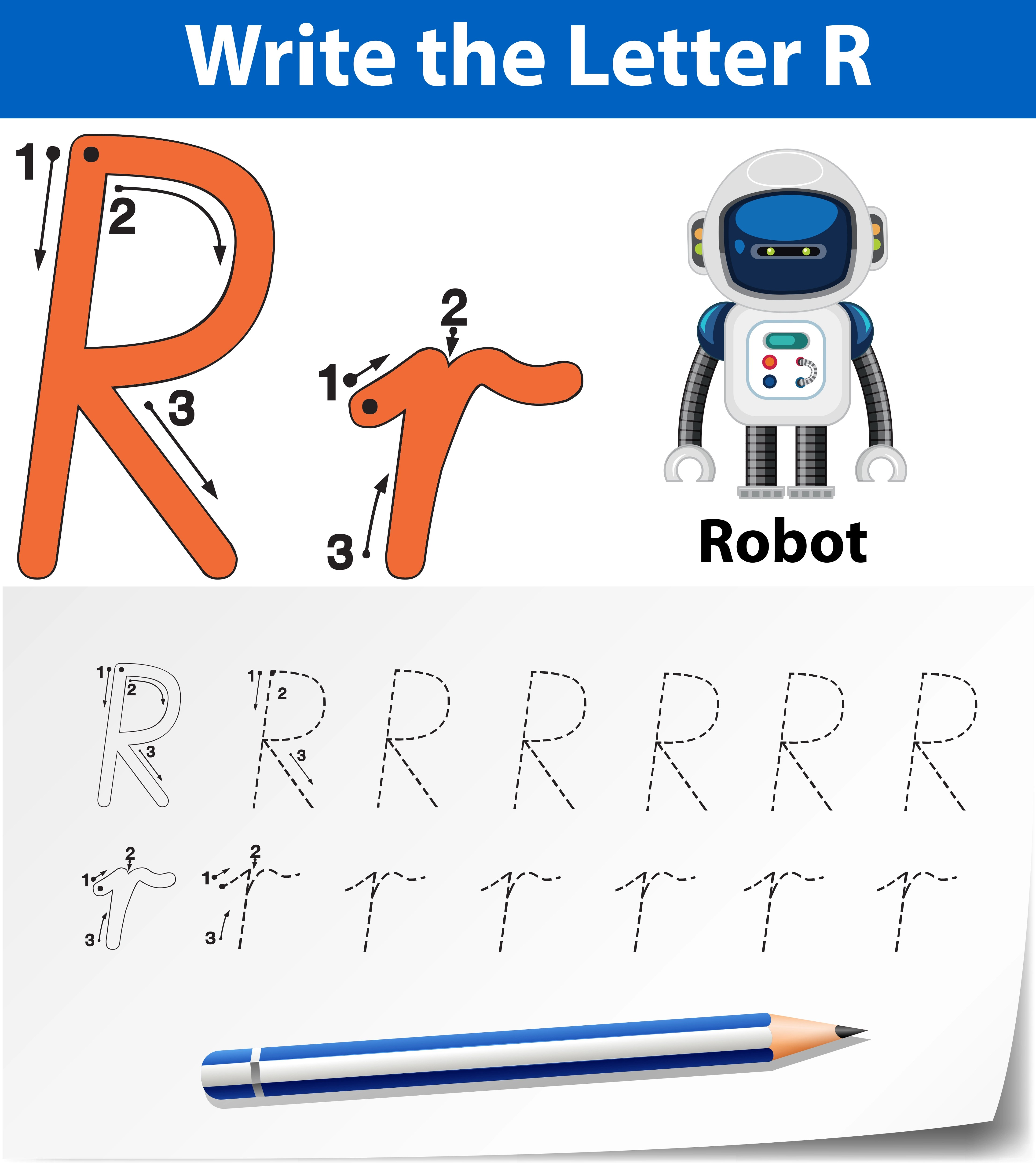 Letter Tracing Free Vector Art