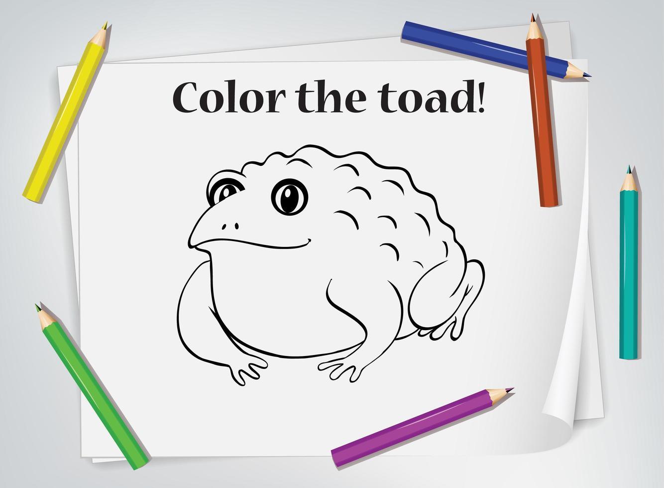 Children S Toad Coloring Worksheet