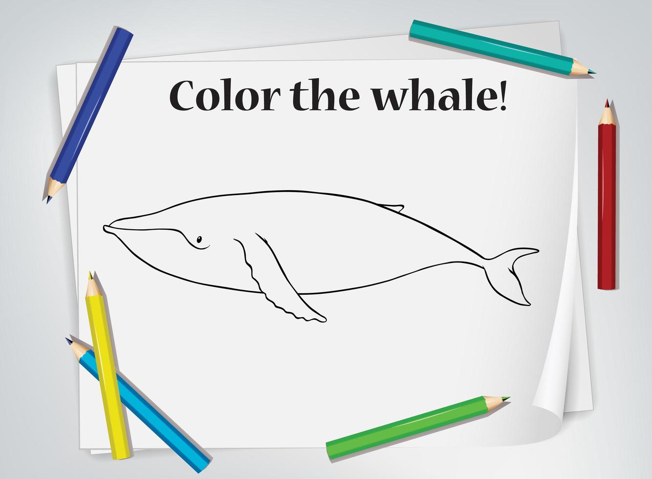 Children S Whale Coloring Worksheet