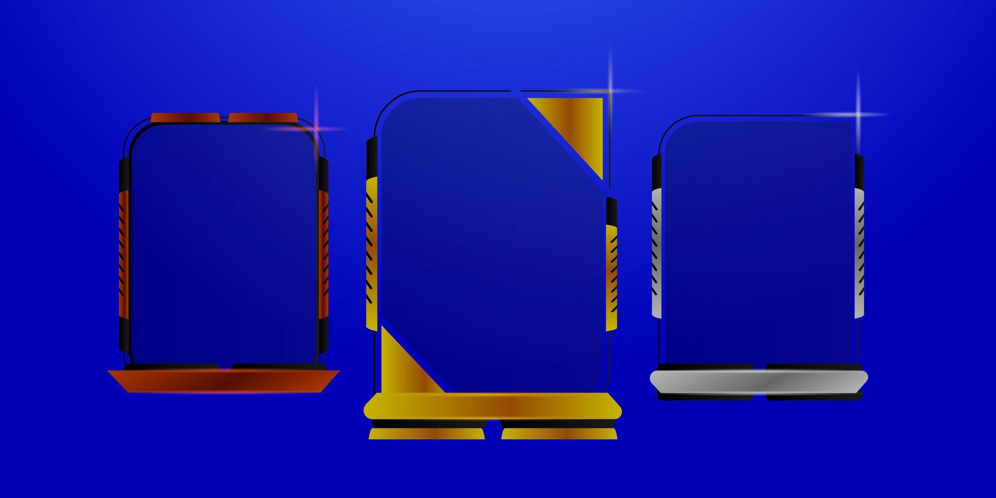 https www vecteezy com vector art 1434309 bronze silver and gold futuristic frame set