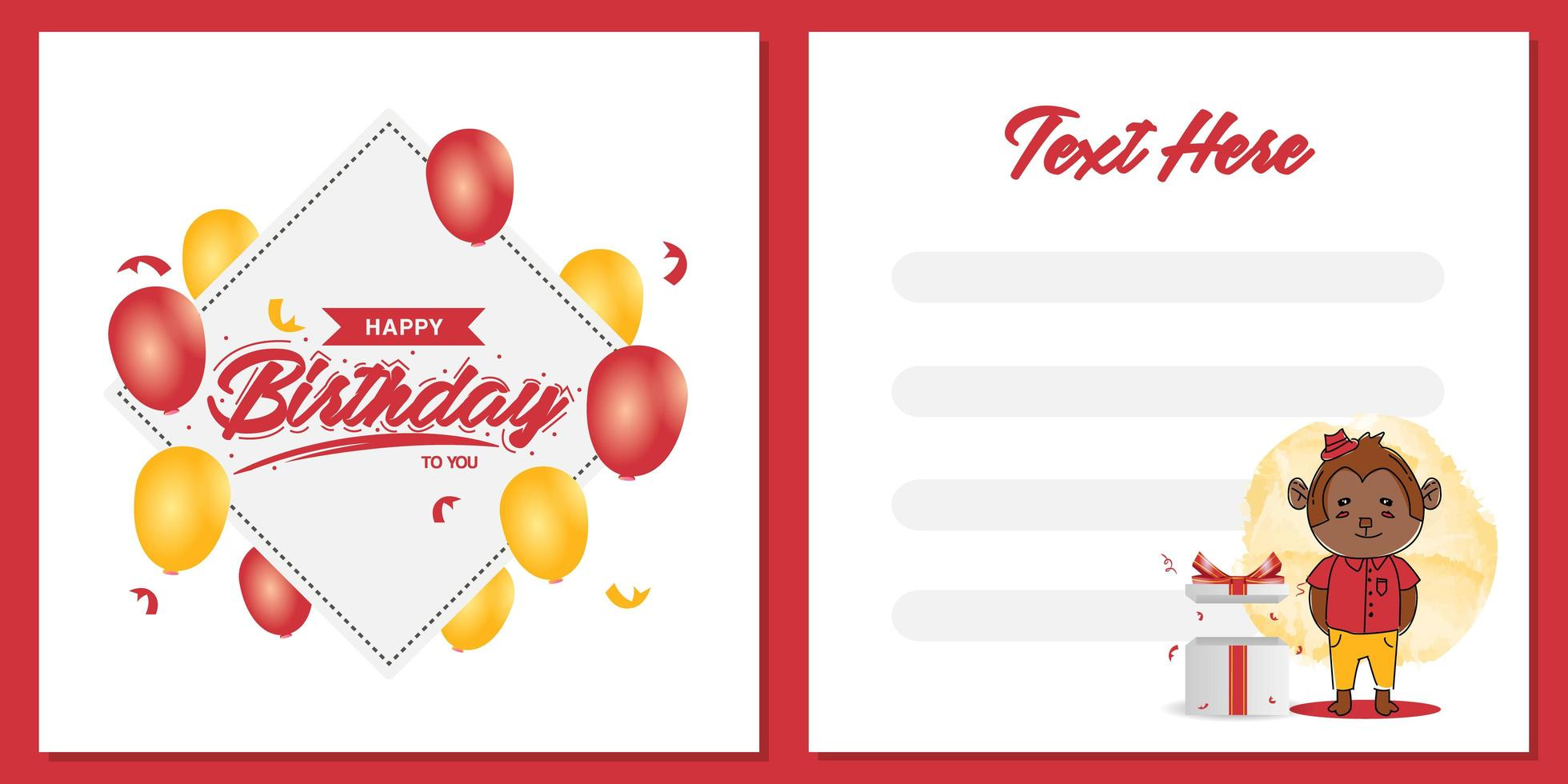 https www vecteezy com vector art 1828937 square birthday party invitation card template design with monkey character design