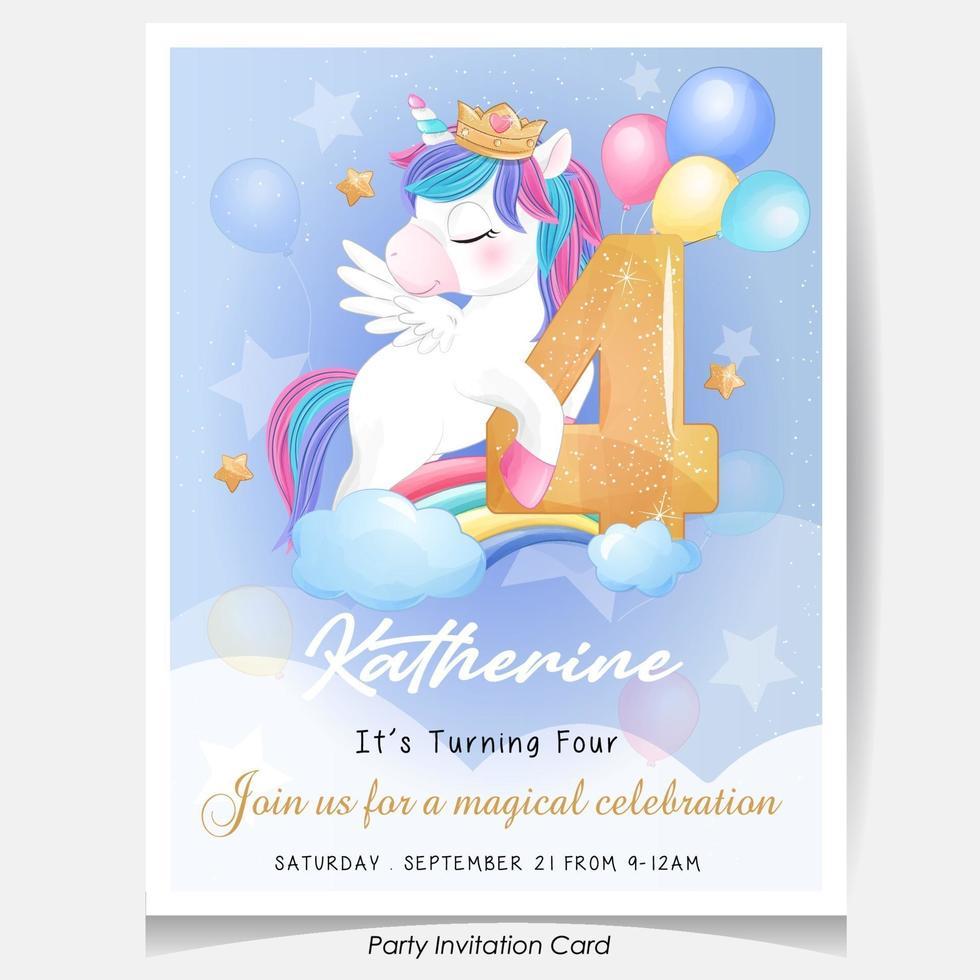 https www vecteezy com vector art 2064074 cute doodle unicorn birthday party invitation card illustration