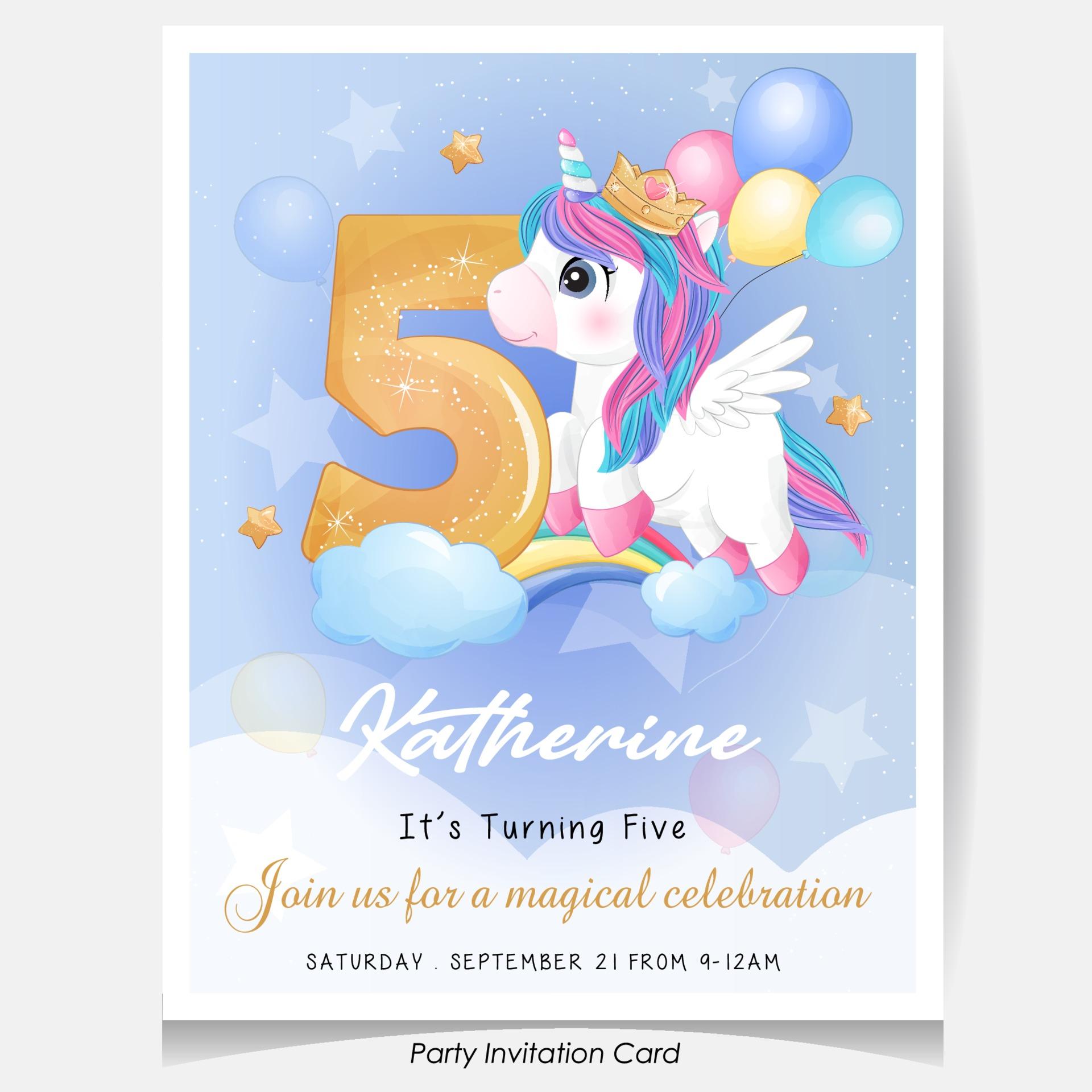https www vecteezy com vector art 2064091 cute doodle unicorn birthday party invitation card illustration