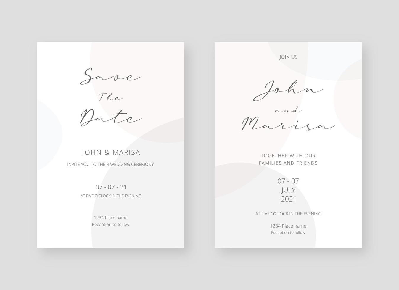 https www vecteezy com vector art 2065622 invitation card template set of wedding invitation card template design vector decorative design background