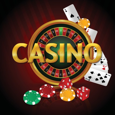 Luxury vip casino gambling game with roulette, casino chips and realistic playing cards 2214935 Vector Art at Vecteezy