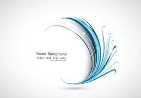 Vektor Gelombang Lingkaran Biru