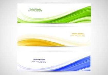 Brazilian Flag Headers vector