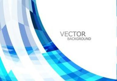 Shiny Glowing Wave On White Background vector