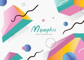 Abstrak Pola Memphis Latar Belakang Vektor Gradien Datar