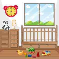 Child Bedroom With Wooden Furniture Download Free Vectors Clipart Graphics Vector Art