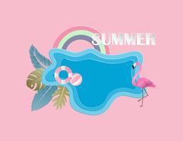 https www vecteezy com vector art 518950 creative illustration summer background concept with pond flamingo bird leaves