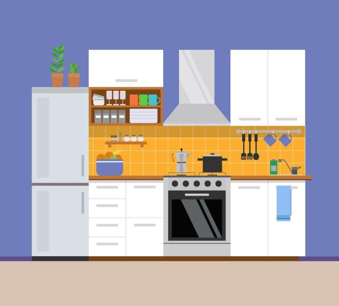 Apartment Design Vector Ilration