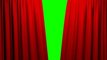 red curtains opening and closing stage theater cinema green screen