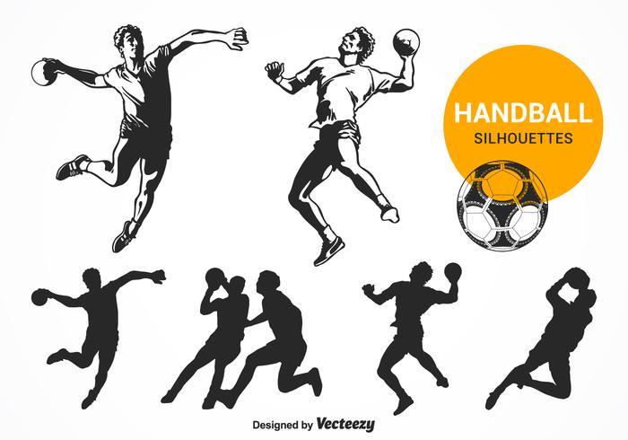 https de vecteezy com vektorkunst 117684 kostenlose handball silhouetten vektor