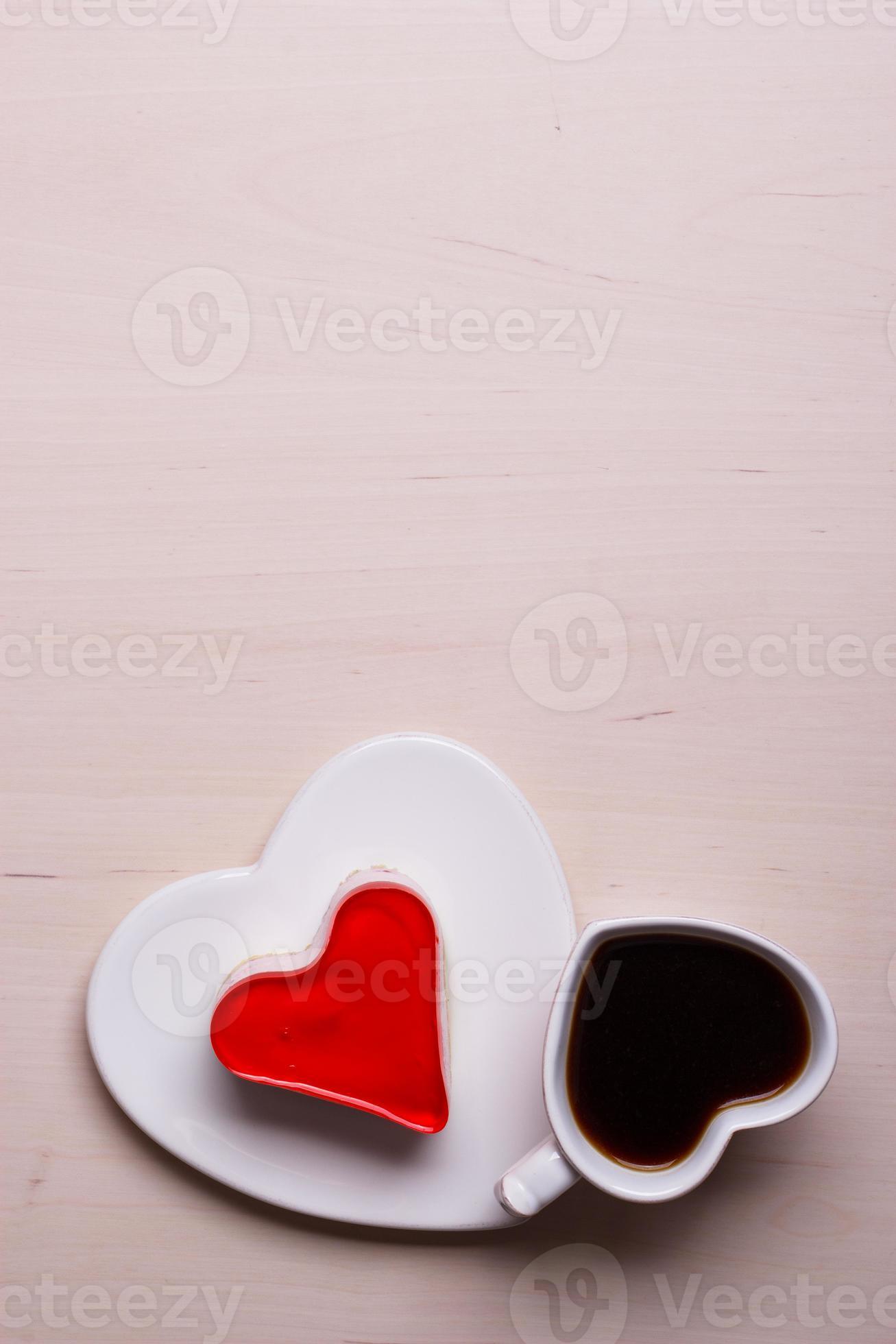 tasse a cafe en forme de coeur et