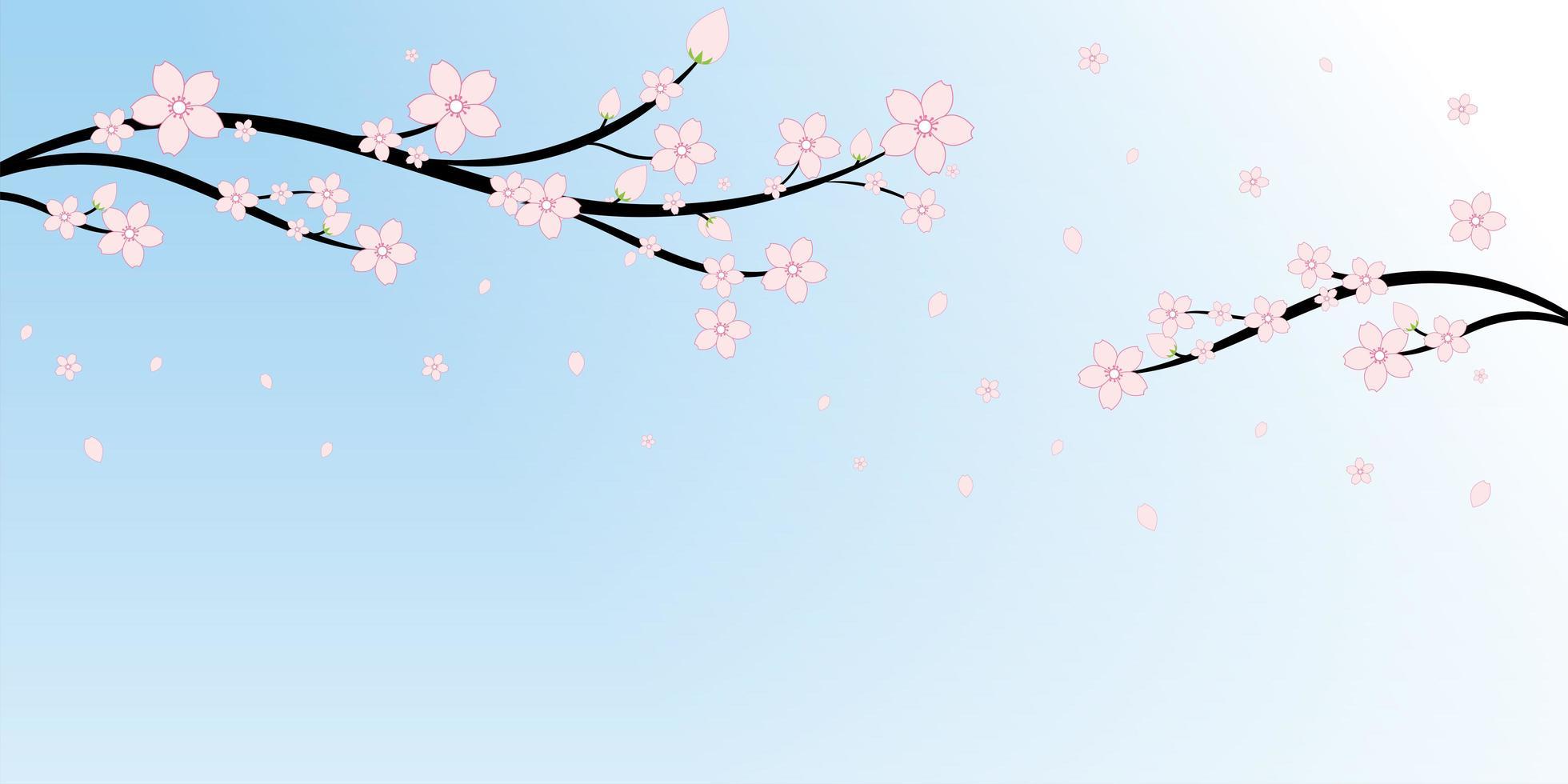 https fr vecteezy com art vectoriel 1101271 fleurs de cerisier japonais et branches fond